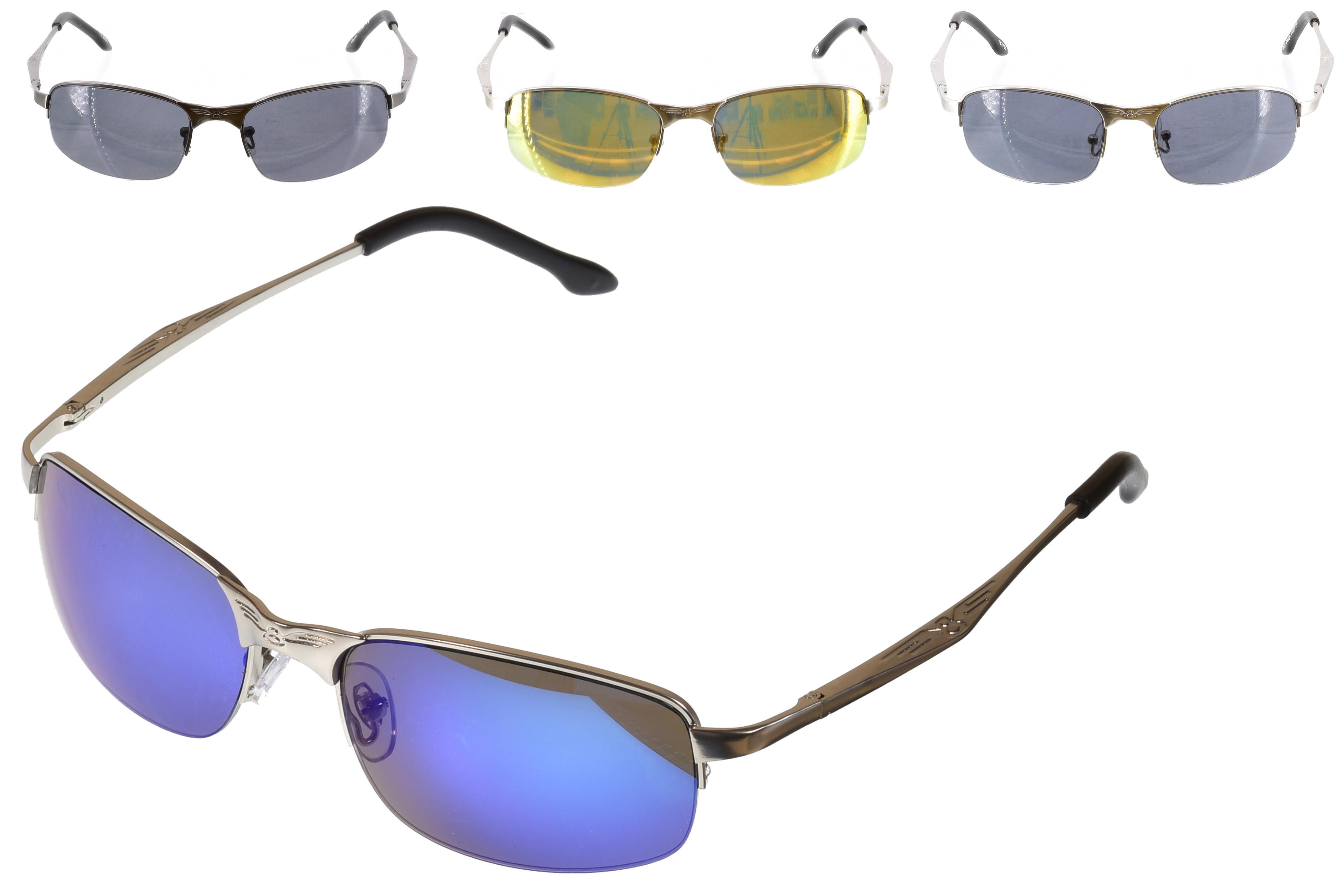 Adult Metal 1/2 Frame S/Glasses (S/Loaded) - 4 Asst
