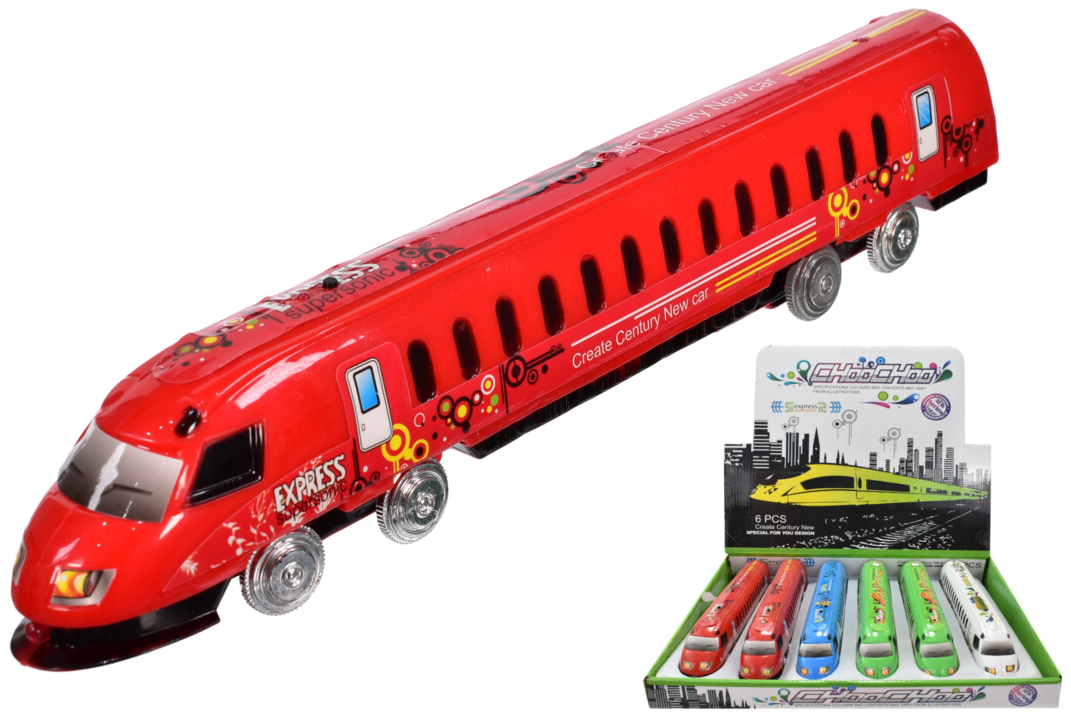 Friction Bullet Train With Sound & Light In Display Box