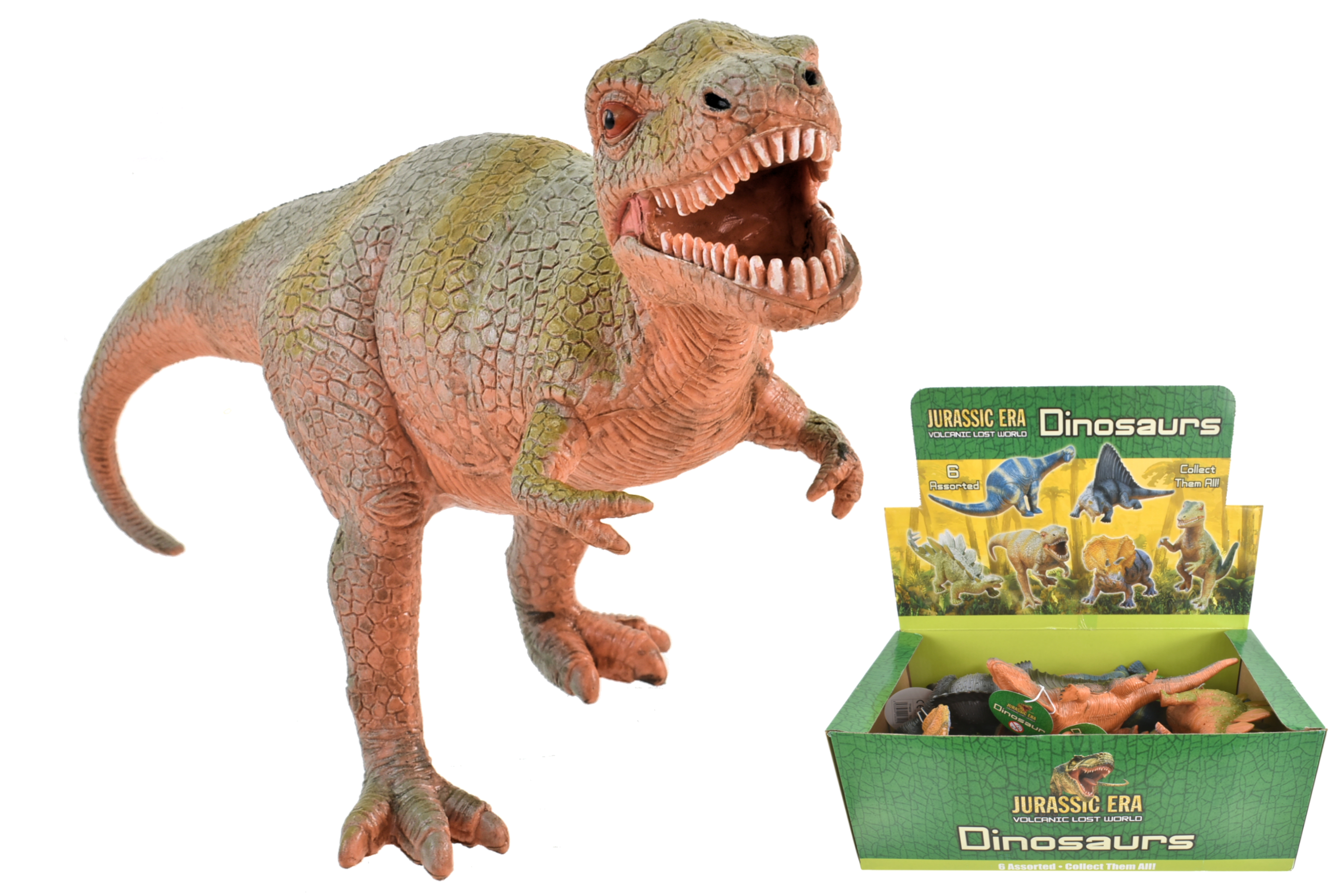 Dinosaurs 17-20cm 6 Assorted In Display Box