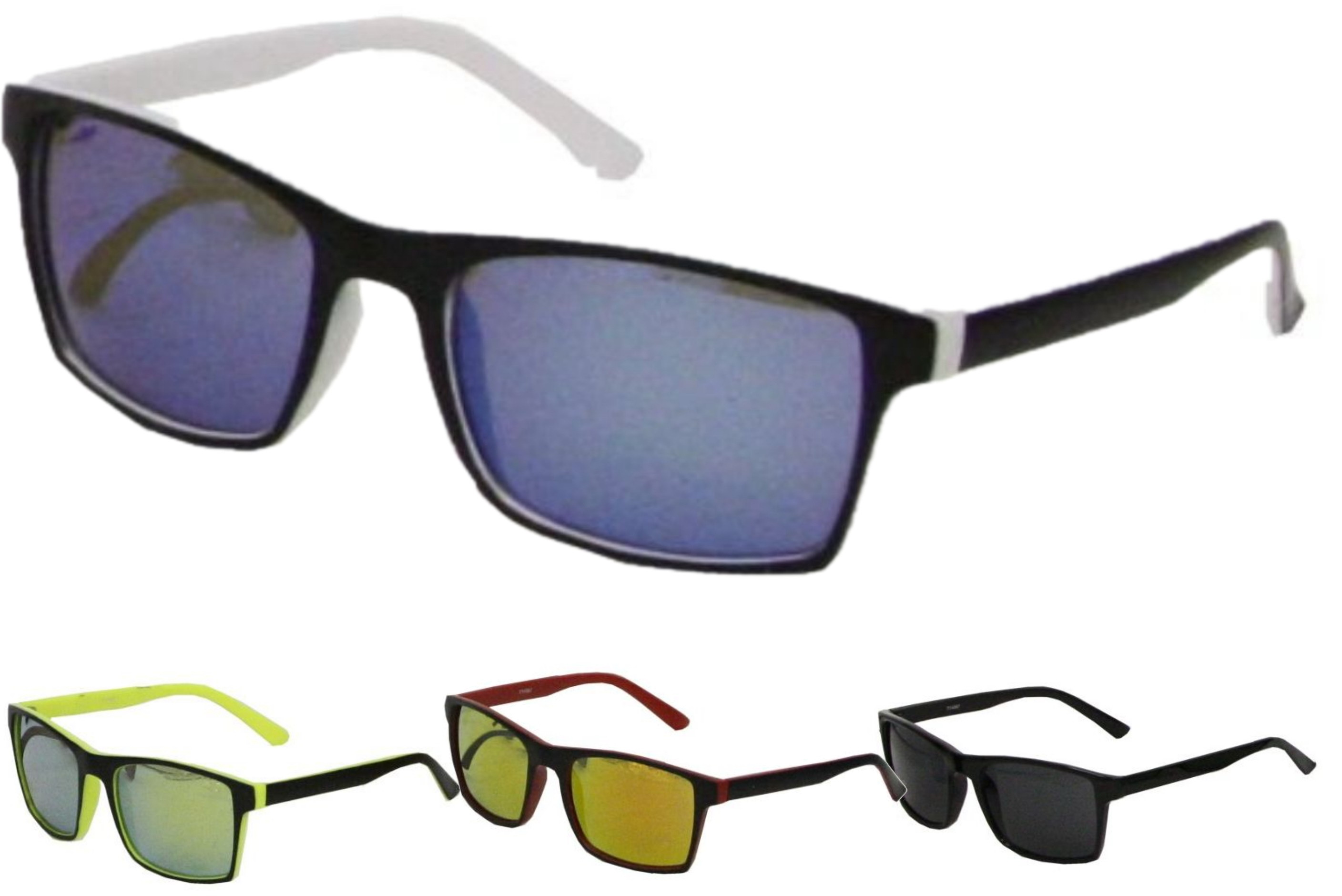 Adult 2 Colour Plastic Frame Sunglasses - 4 Assorted