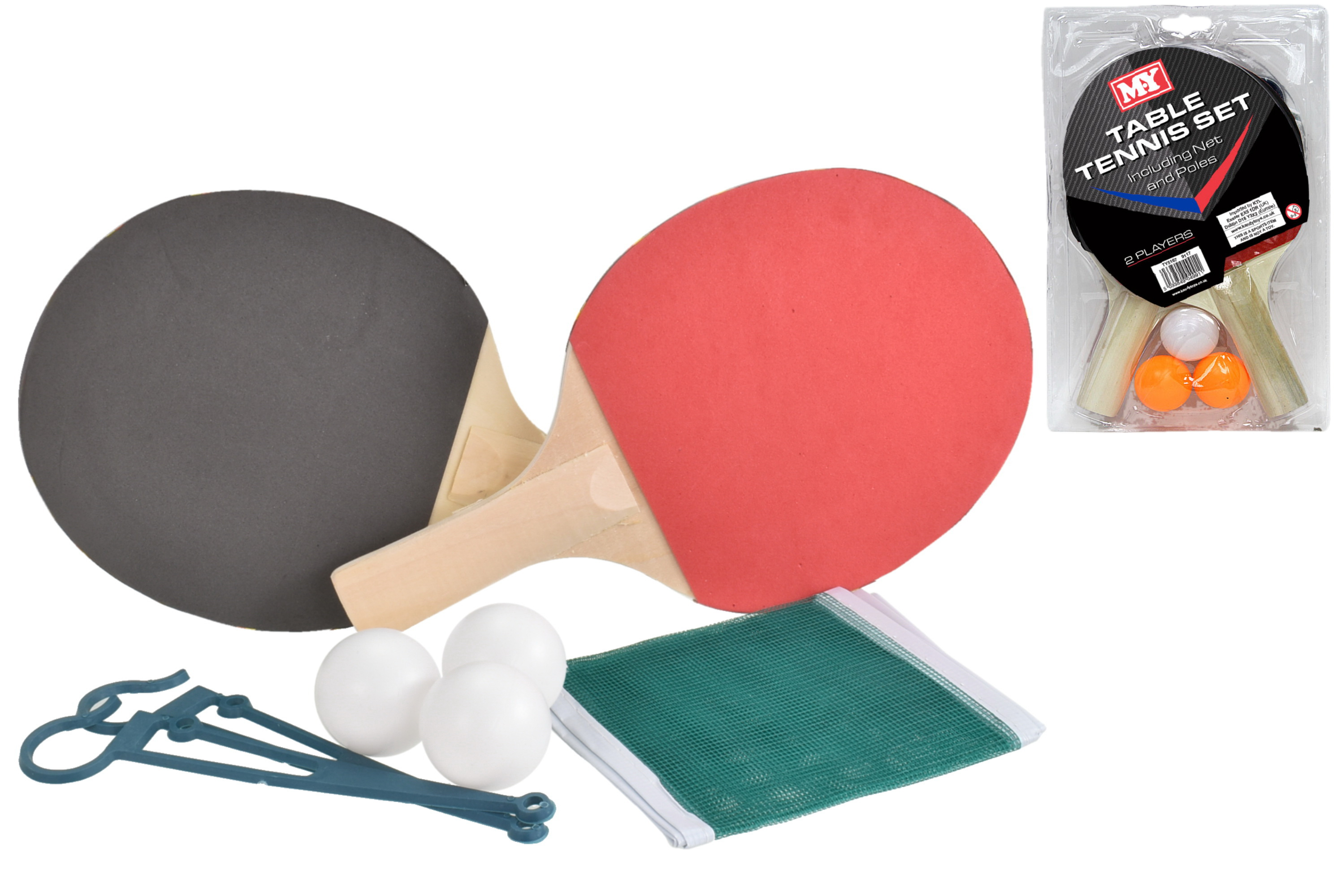 "Table Tennis Set - Pvc Clam Packing ""M.Y"""