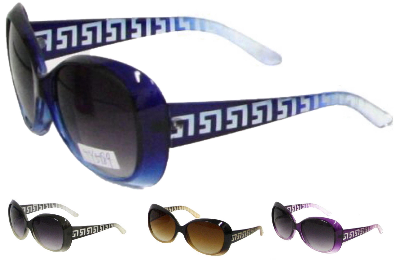 Ladies Plastic Large Lens Sunglasses - 4 Assorted