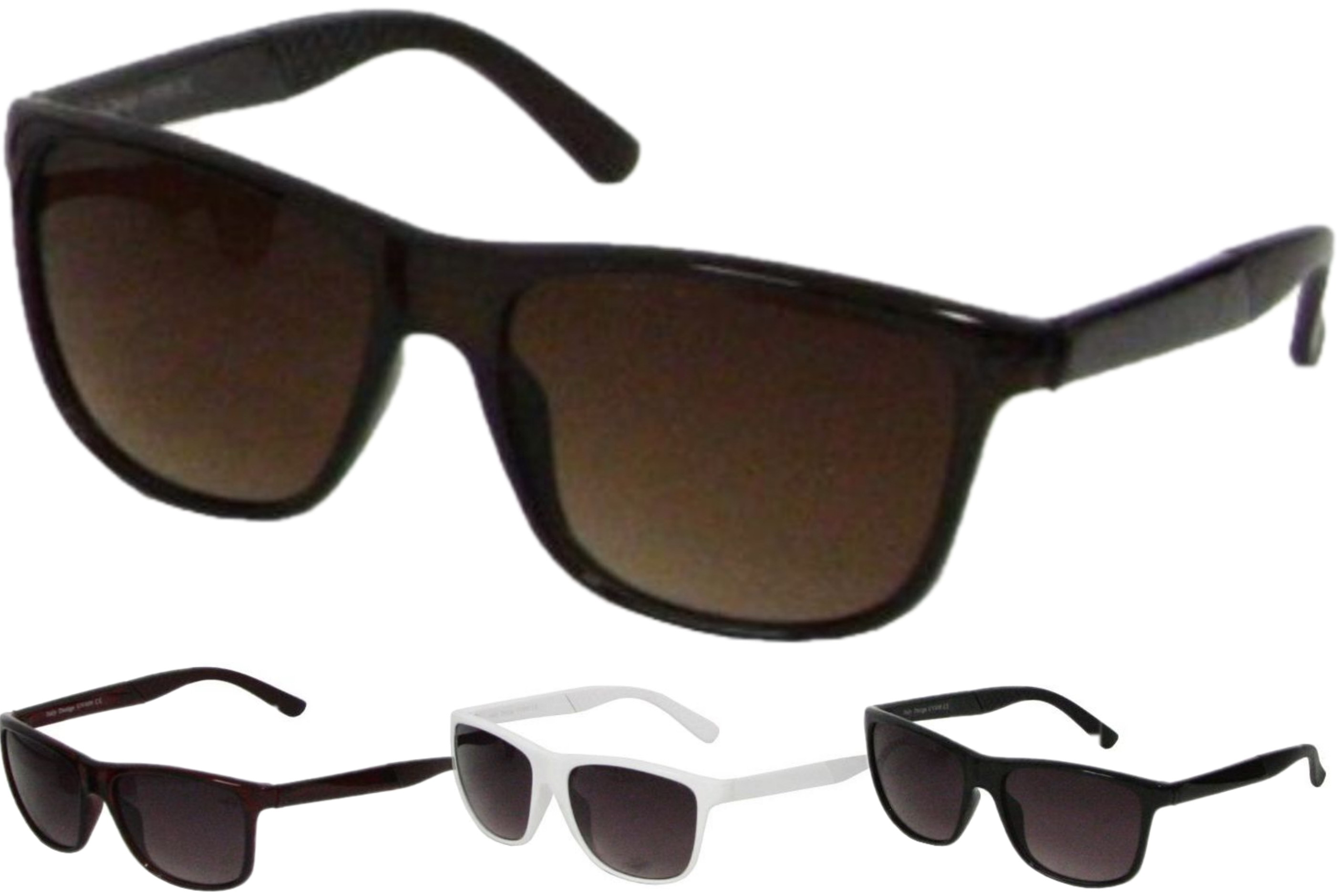 Adult Plastic Frame Sunglasses - 4 Assorted