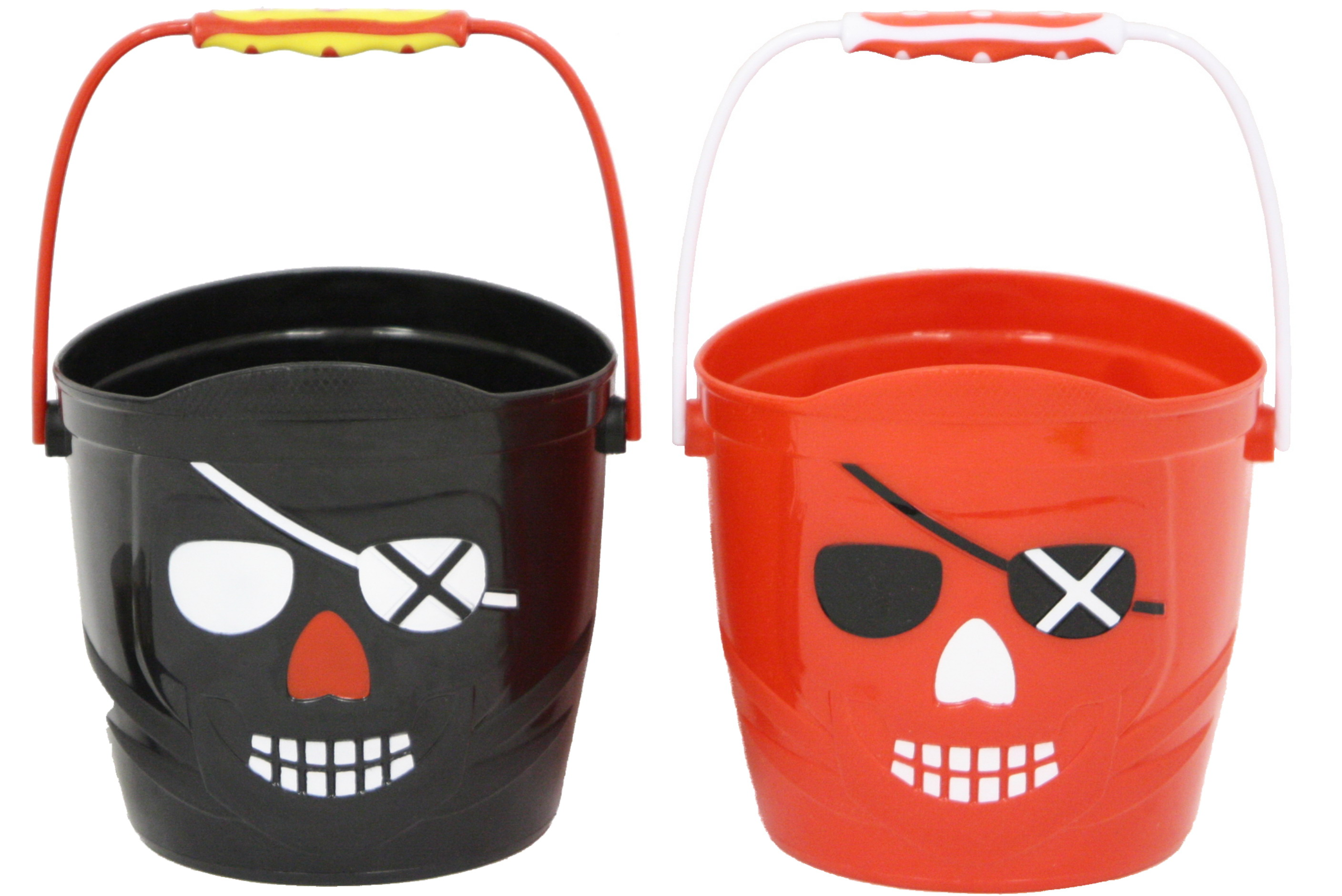"5.5""/14cm Pirate Bucket - Red & Black"