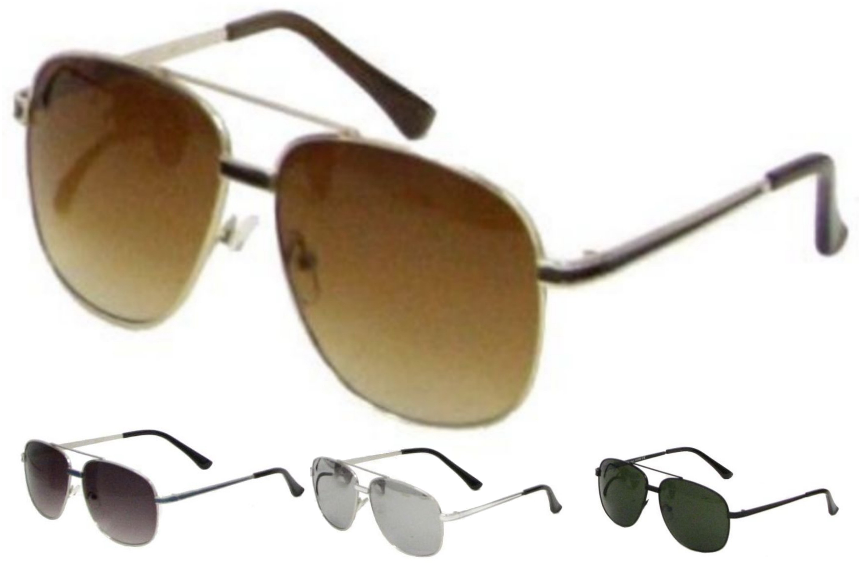Adult Metal Frame Designer Sunglasses - 4 Assorted
