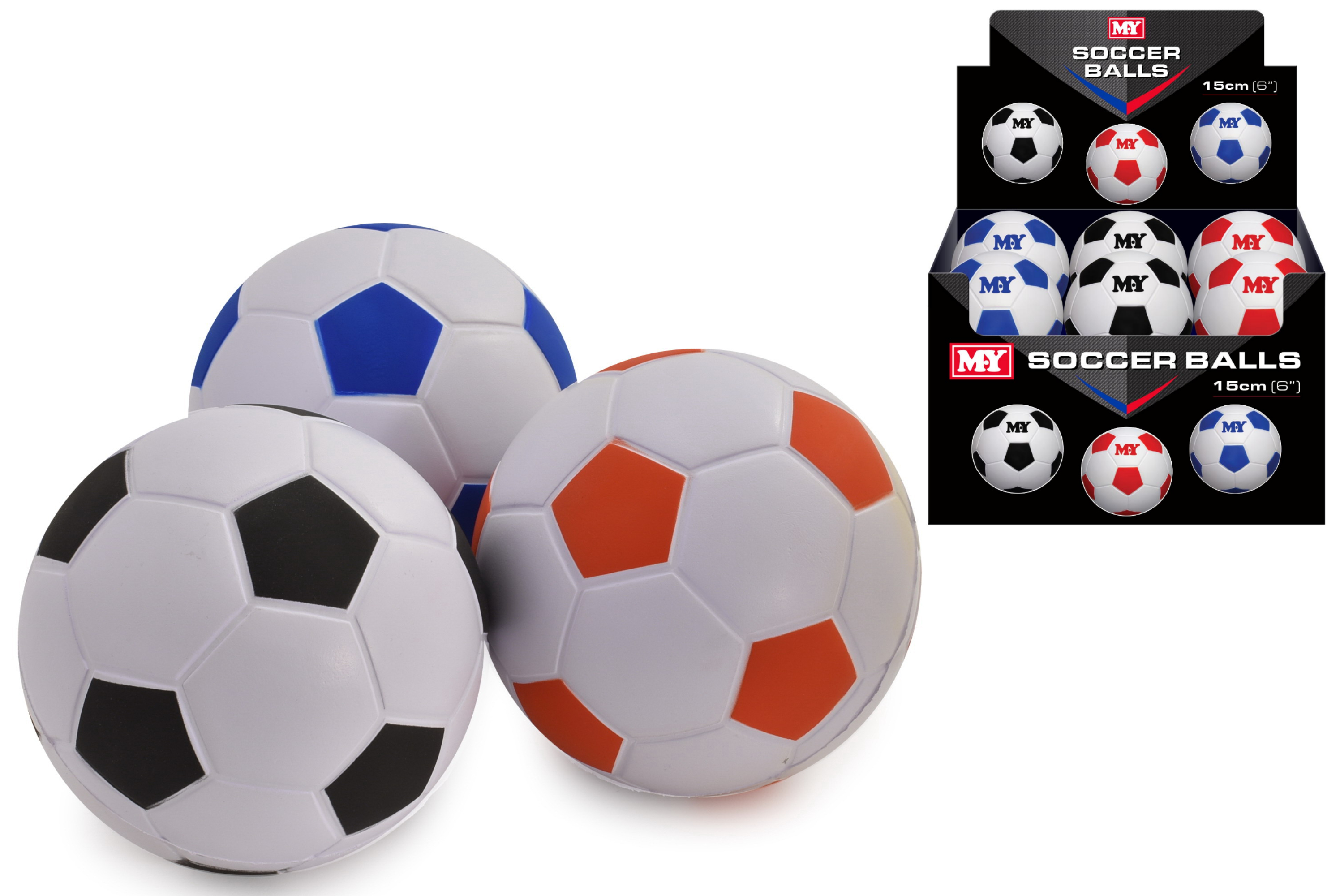 "6"" Pu Footballs In Display Box ""M.Y"""