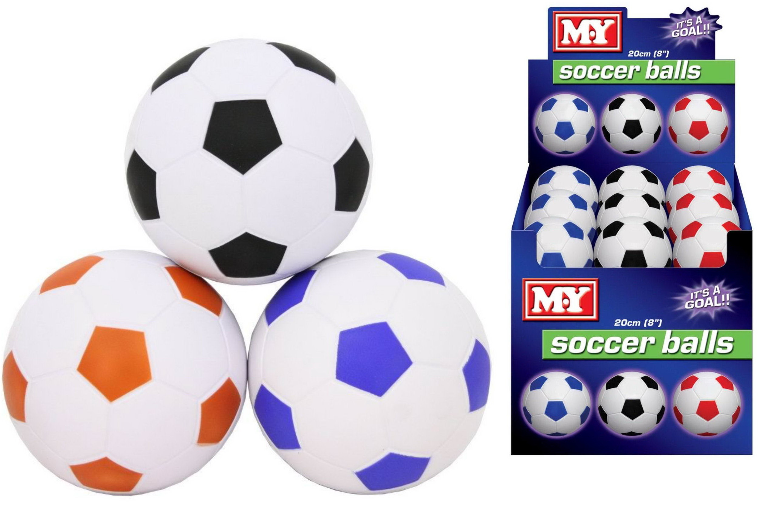 "8"" Pu Footballs In Display Box - ""M.Y"""