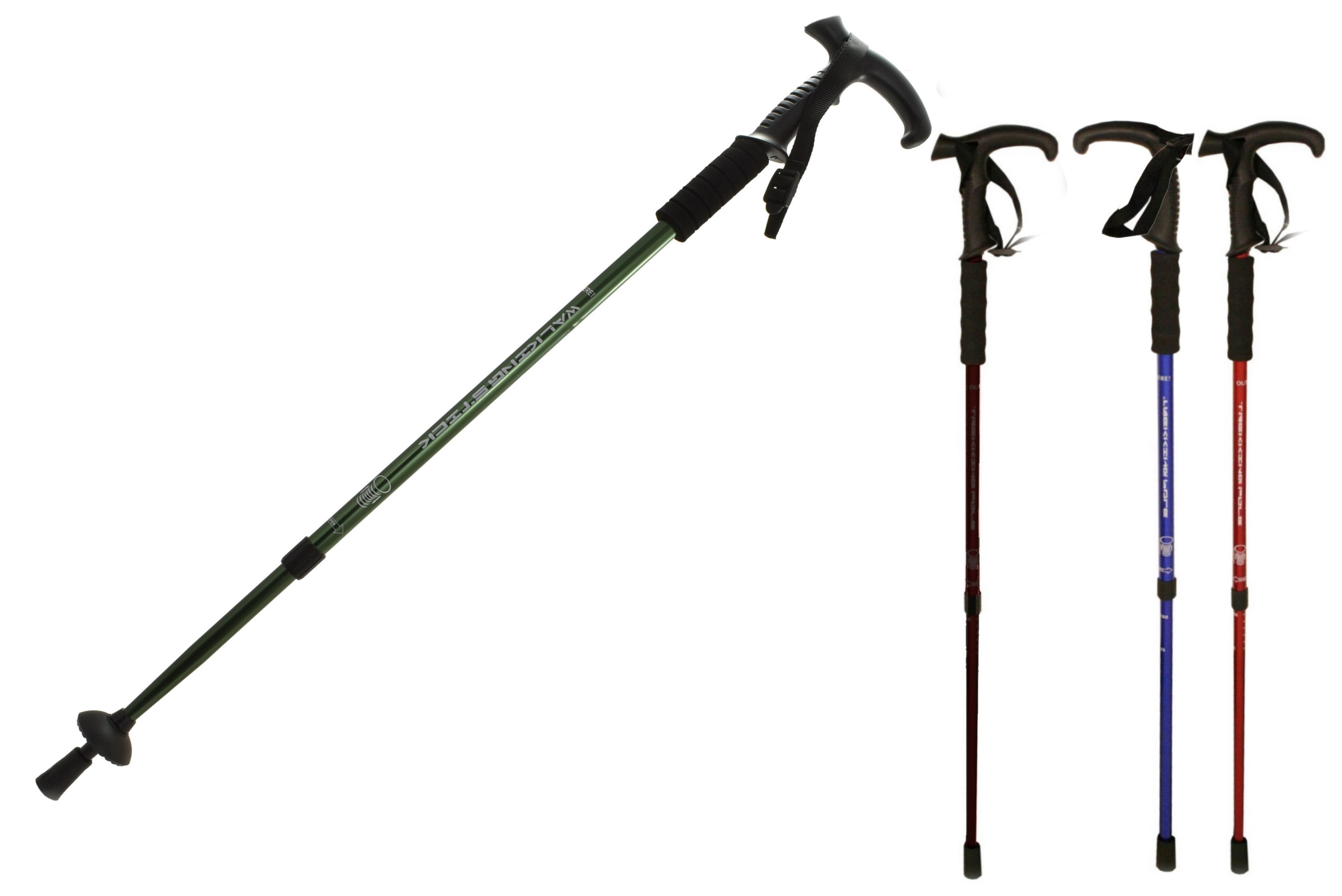 2 Section Aluminium Telescopic Walking Stick Anti-Shock