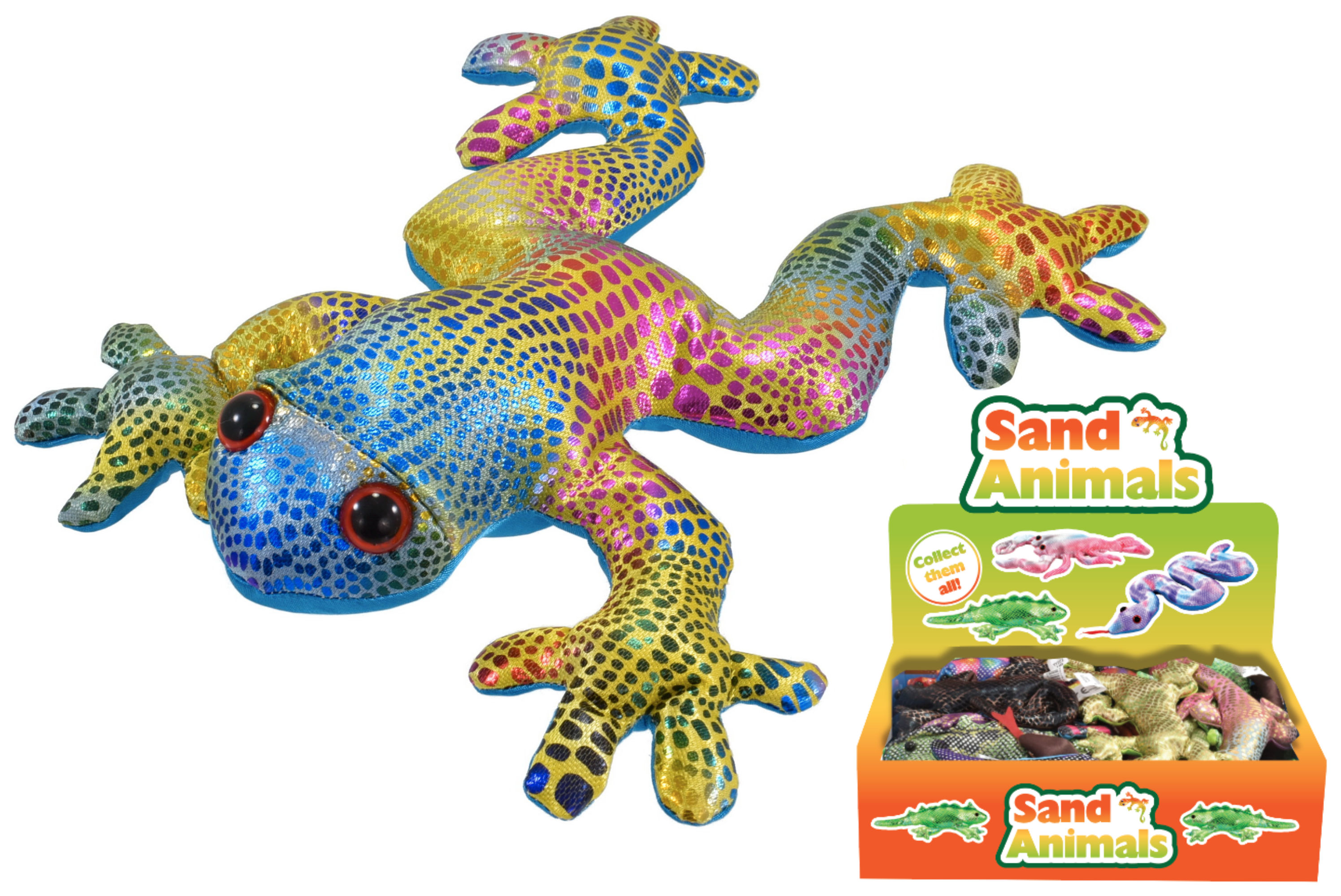 "8"" Assorted Sand Animals In Display Box"