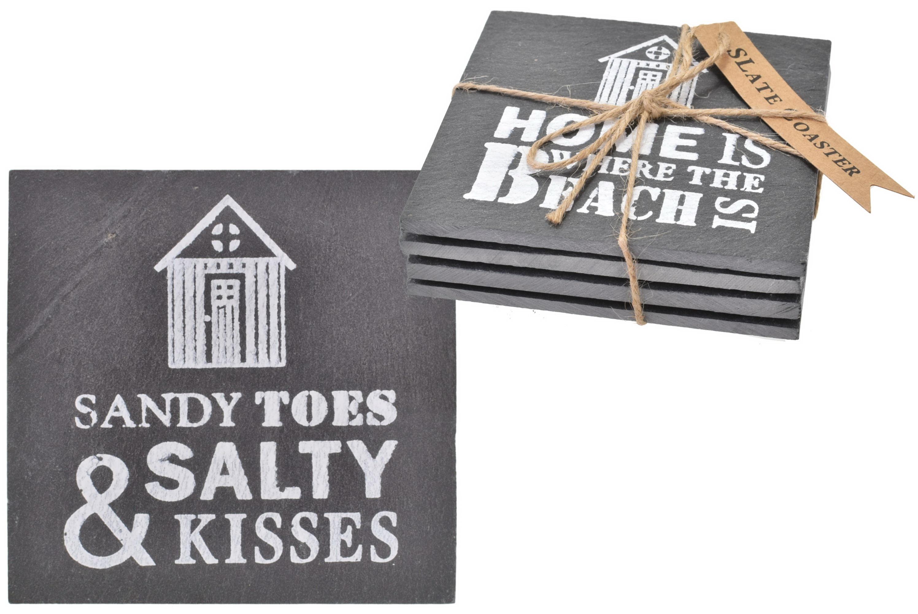 Slate Coasters (Set Of 4) - 2 Assorted