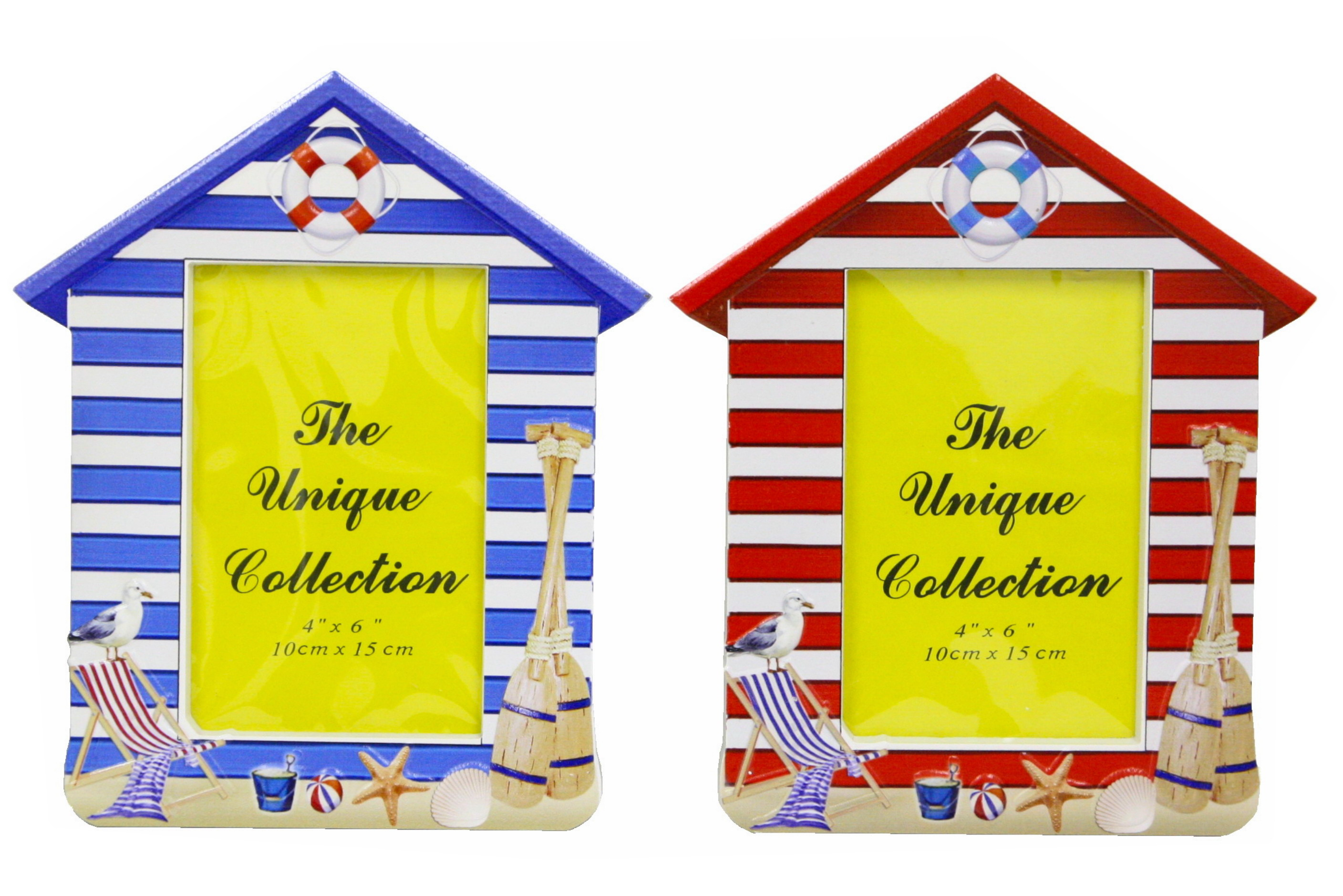 Beach Hut Photo Frame - 2 Assorted Colours