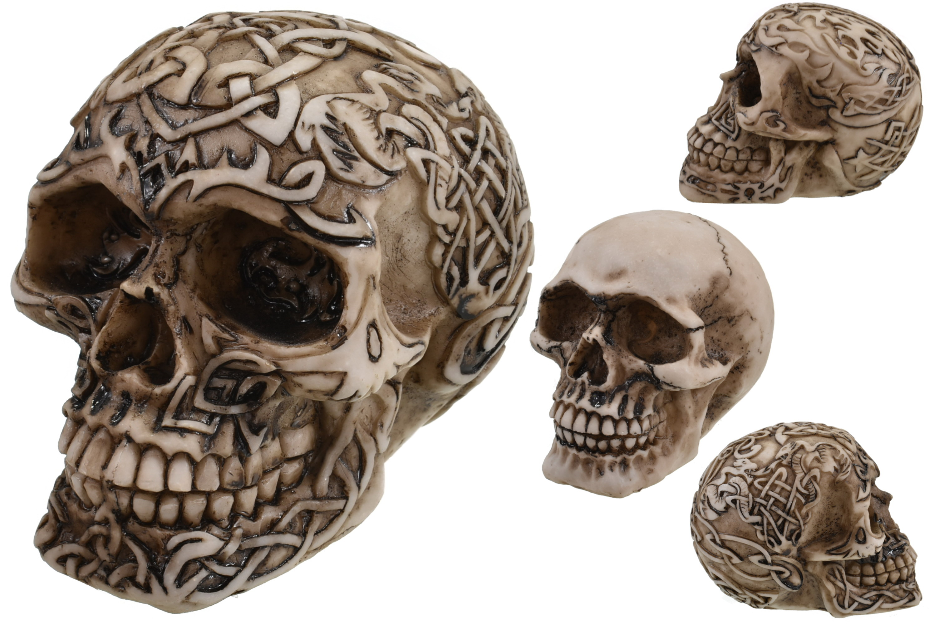 10cm Resin Skull - 4 Assorted