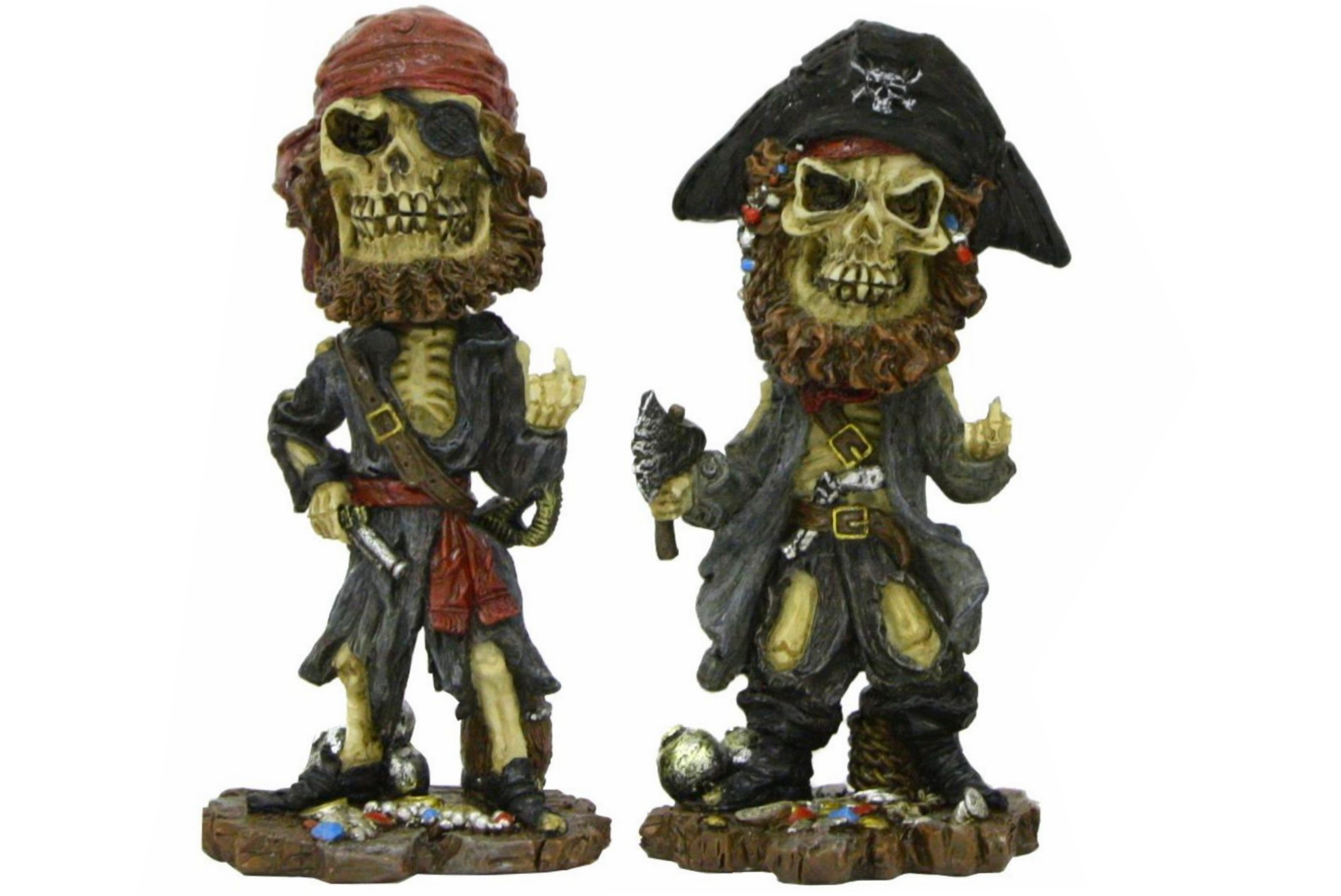 Resin Nodding Pirates - 4 Assorted