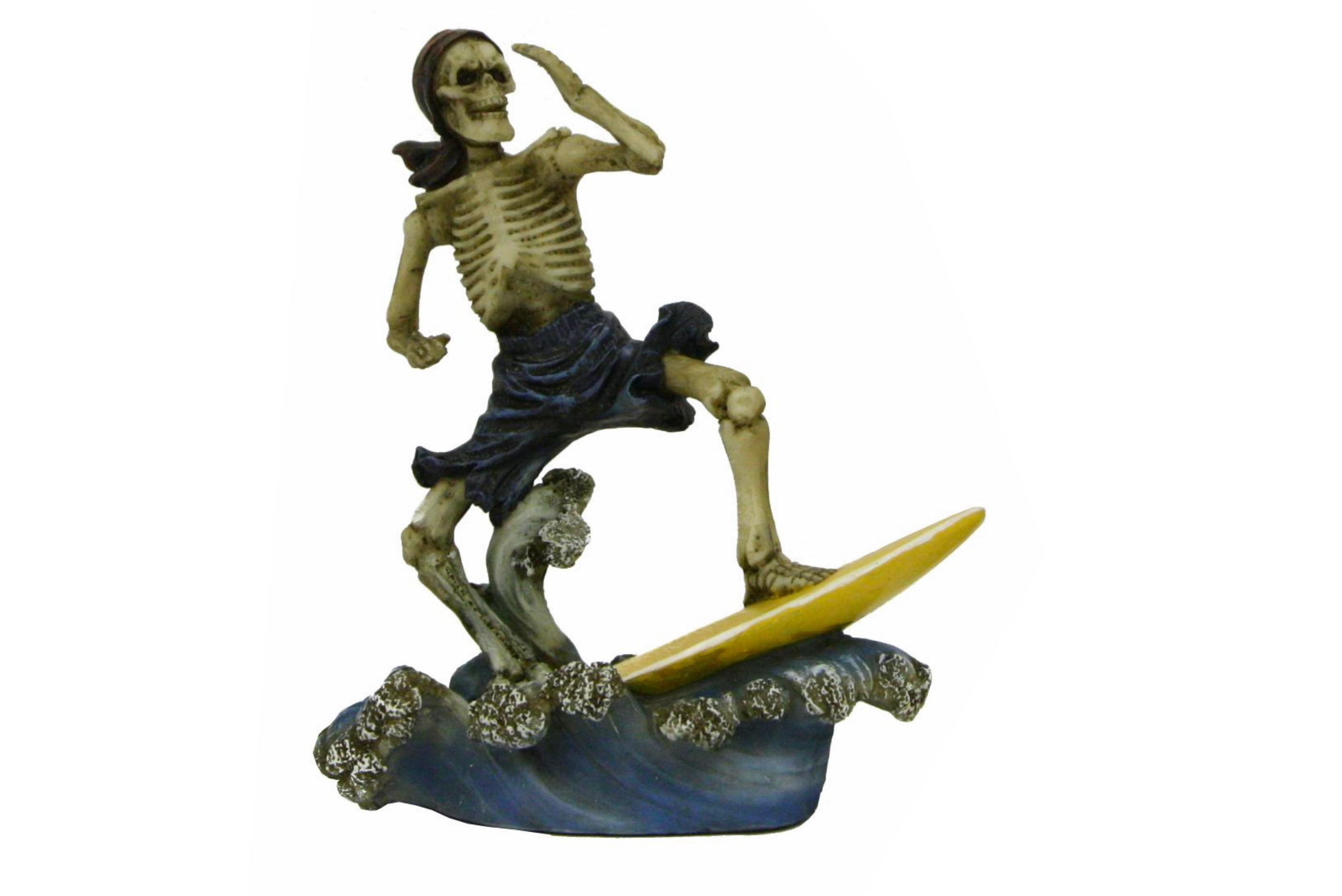 Polyresin Skeleton Surfer - 4 Assorted Colours
