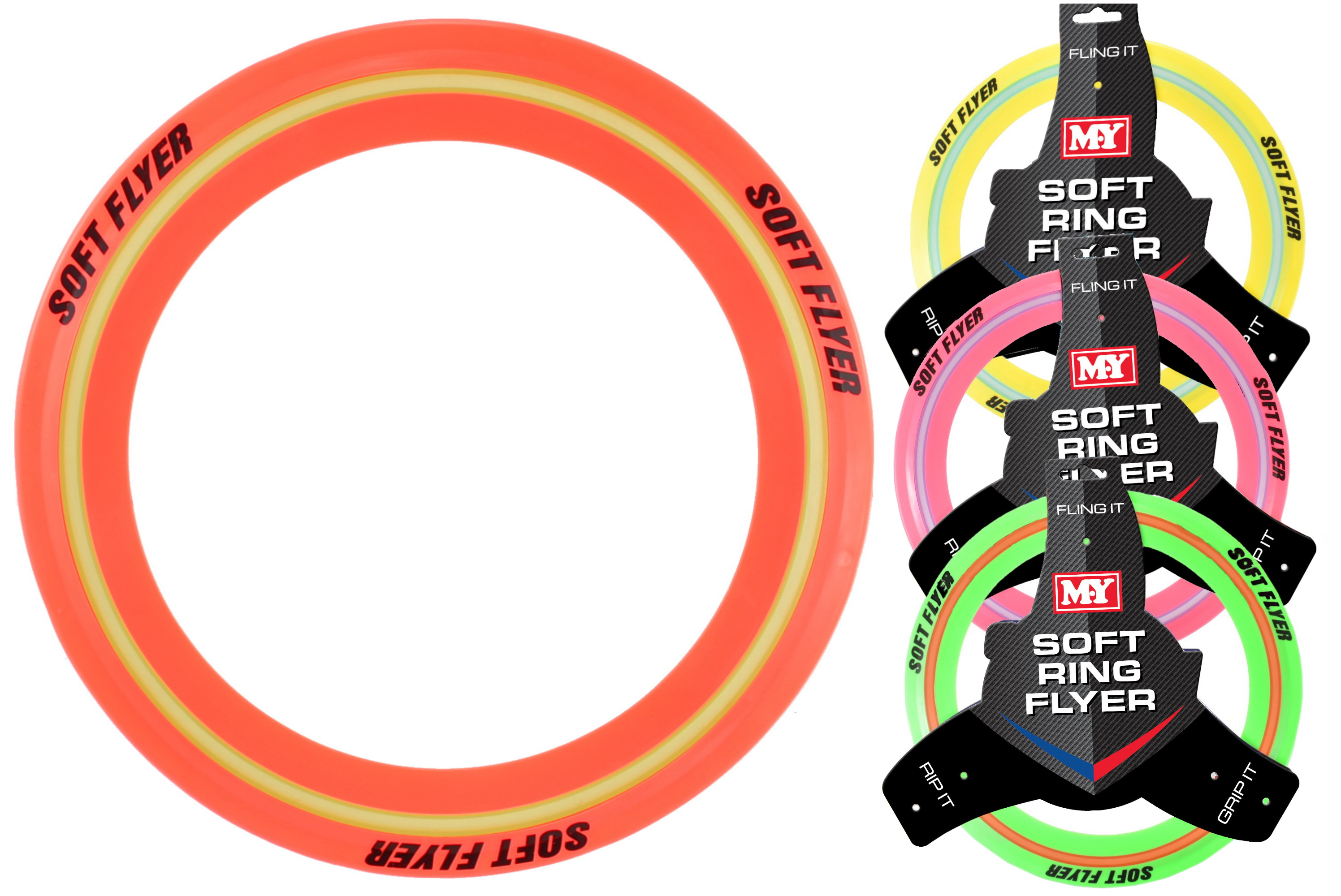 """M.Y"" 29cm Soft Flying Ring - 4 Assorted Colours"
