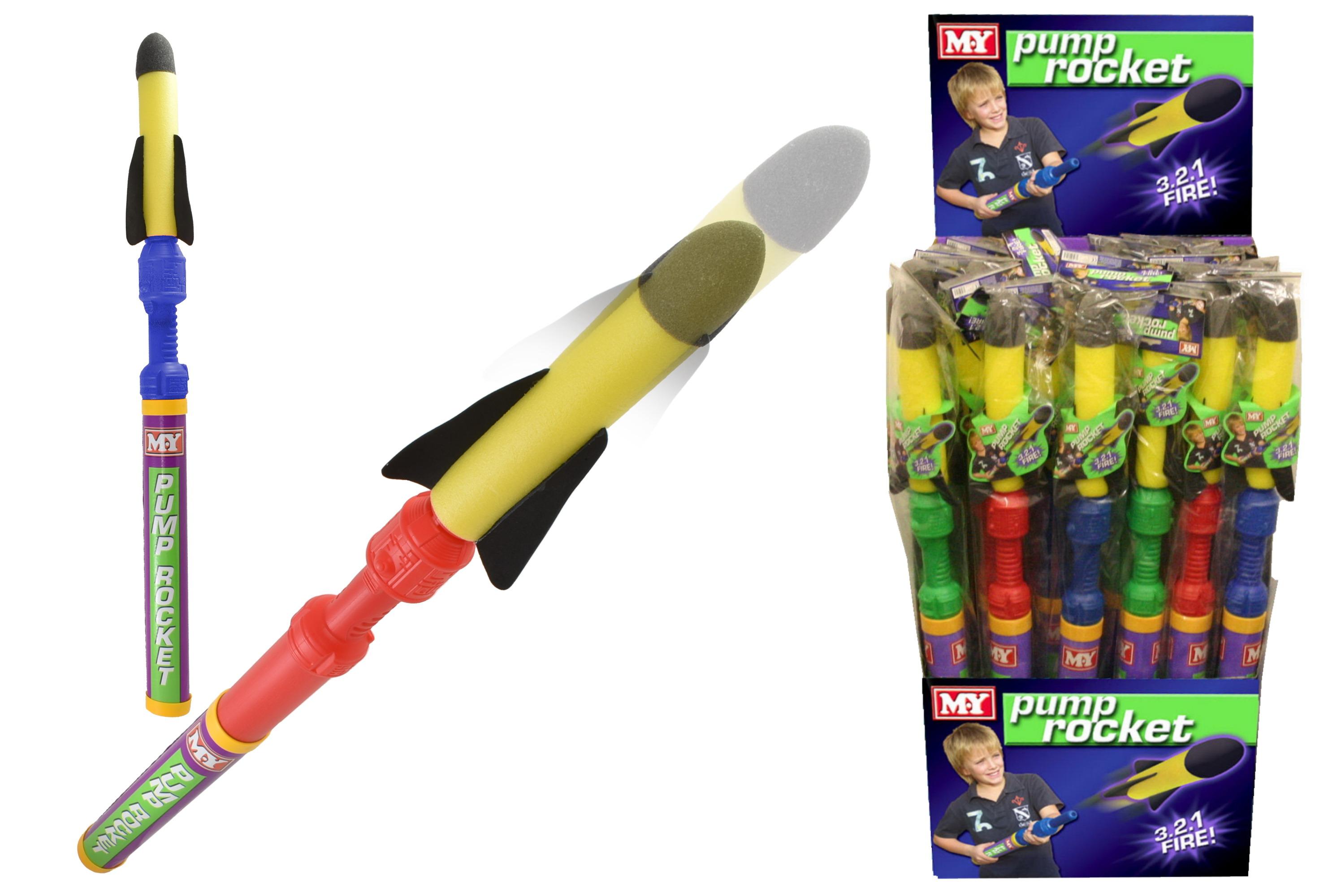 """83cm Foam Pump Rocket In Floor Display Box """"M.Y"""""""