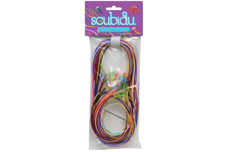 Scubidu - 35pc 90cm Rope 10 Asstd Colours 20pc Dummie
