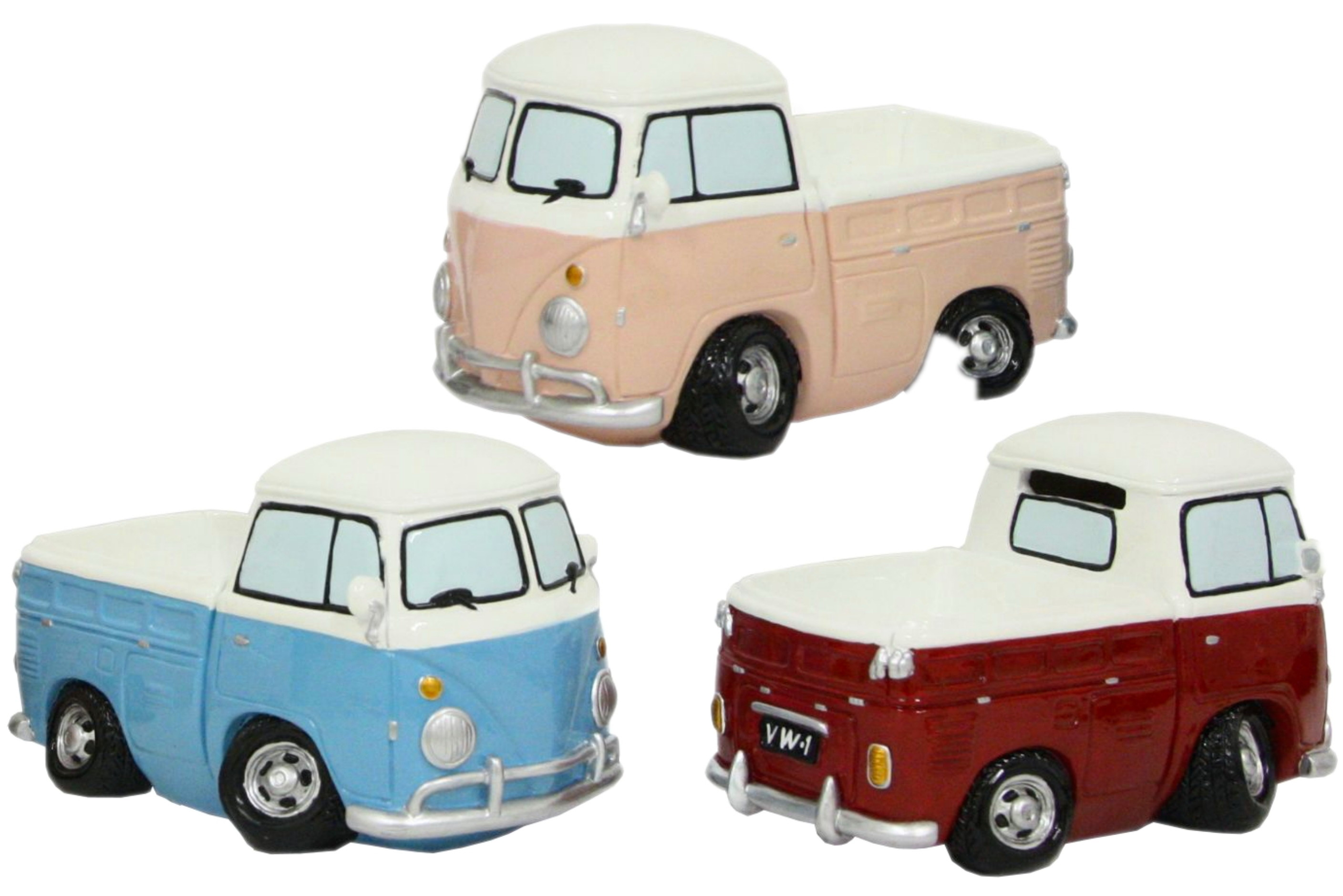 17cm Resin Surf Bus Pick Up - 3 Assorted Colours
