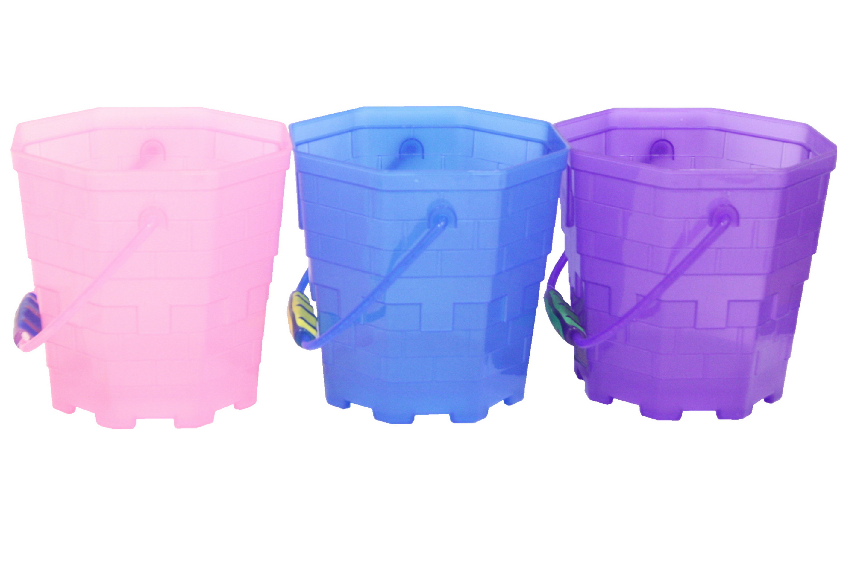 "18.5cm/7.2"" Octagonal Frosted Transparent Bucket"