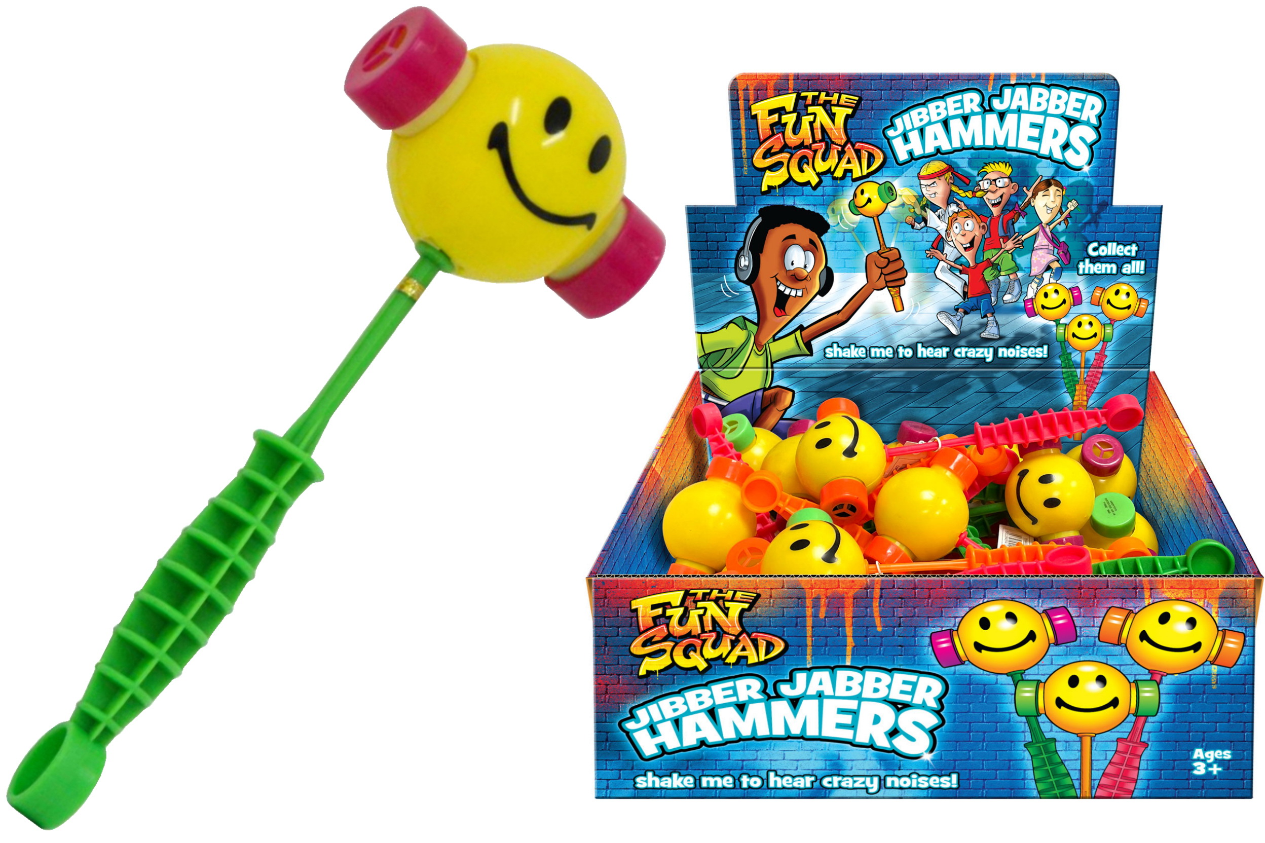 "Jibber Jabber Groan Hammer In Display Box ""Schools Out"""