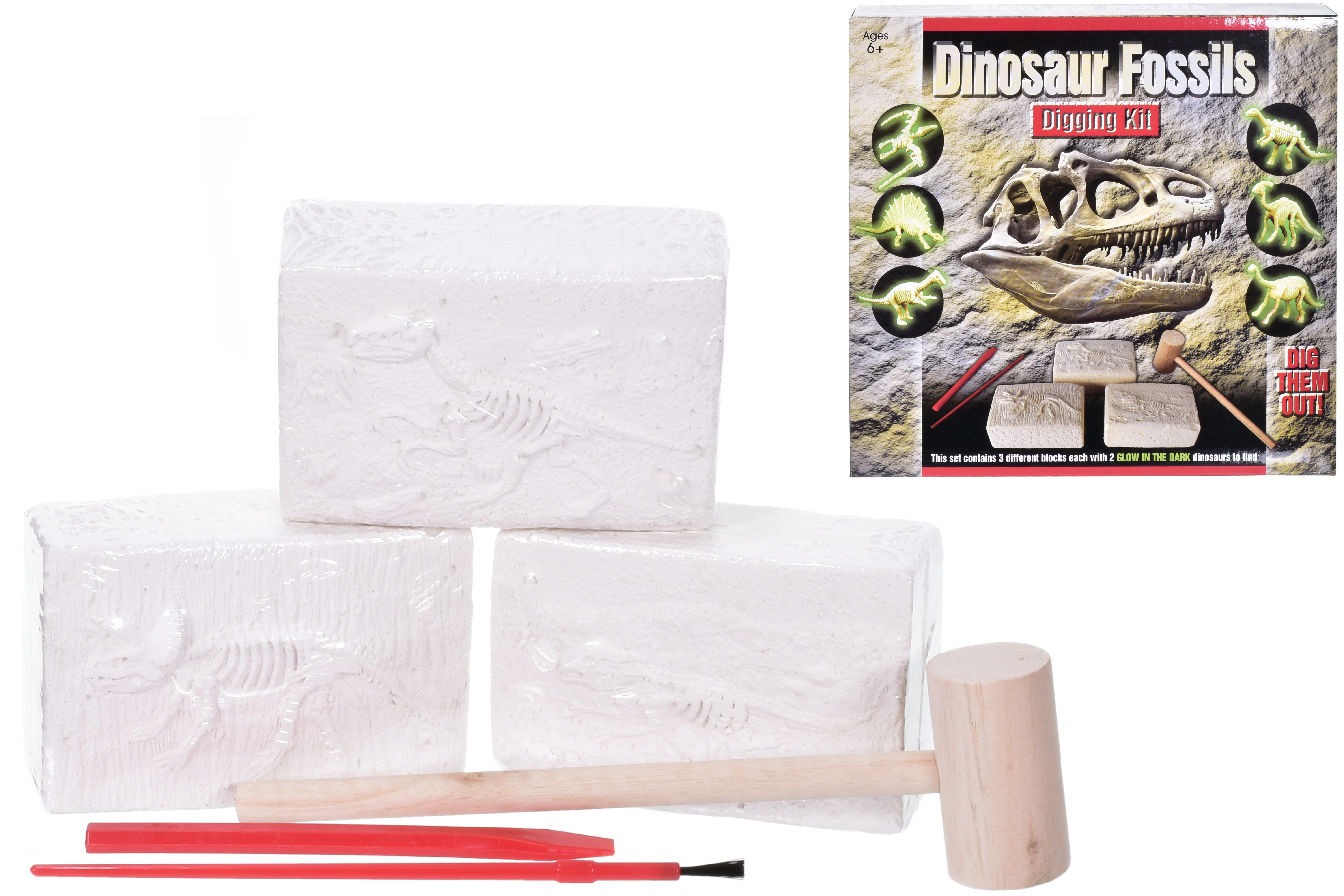 3pc Dig Out Dino Kit In Printed Box