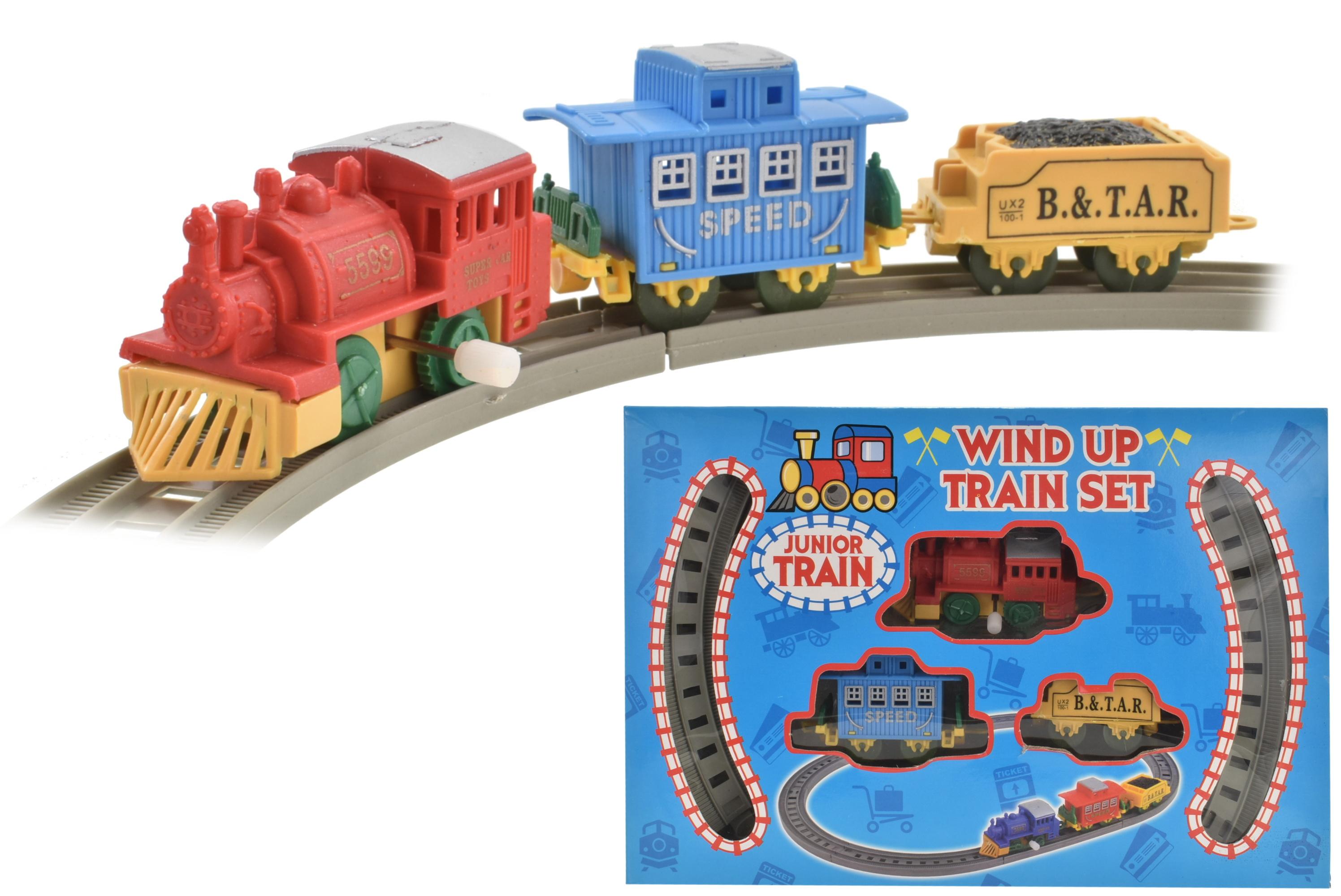 8pc Wind Up Plastic Train Set - Wbx/Pdq