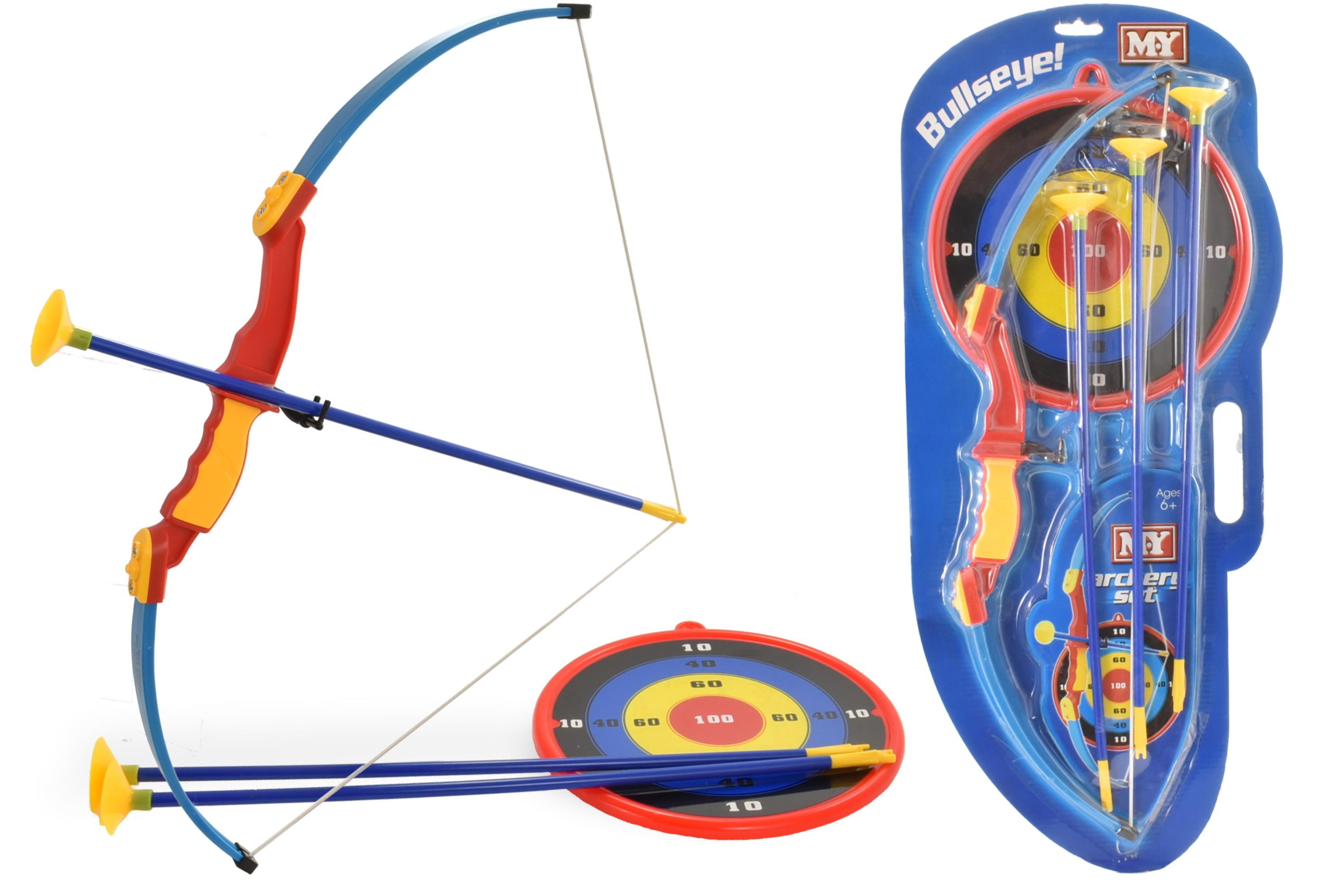 "Archery Set On Blistercard W/ 3 Arrows & Target ""M.Y"""