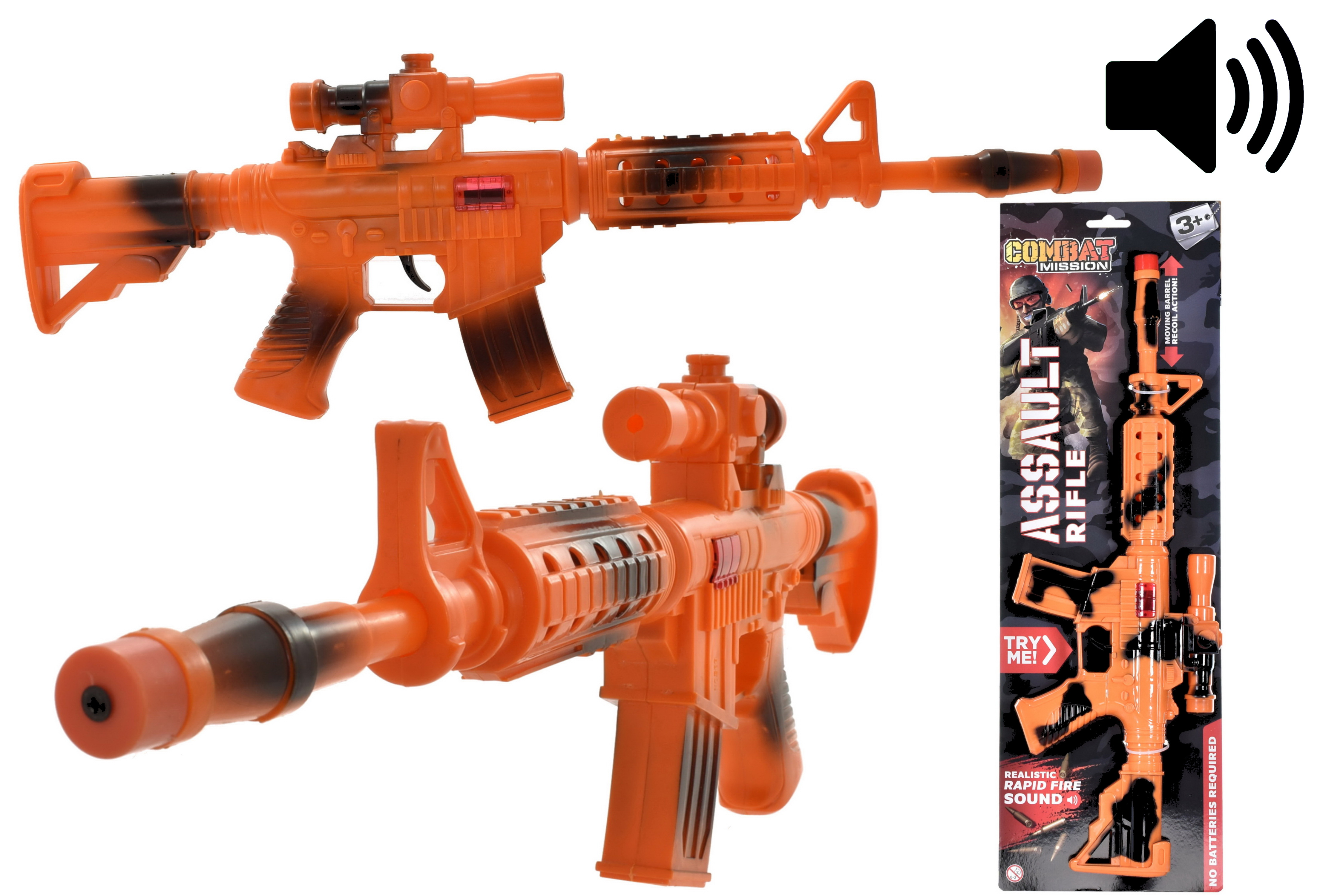 "Friction Assault Rifle With Moving Barrel ""Combat Missi"