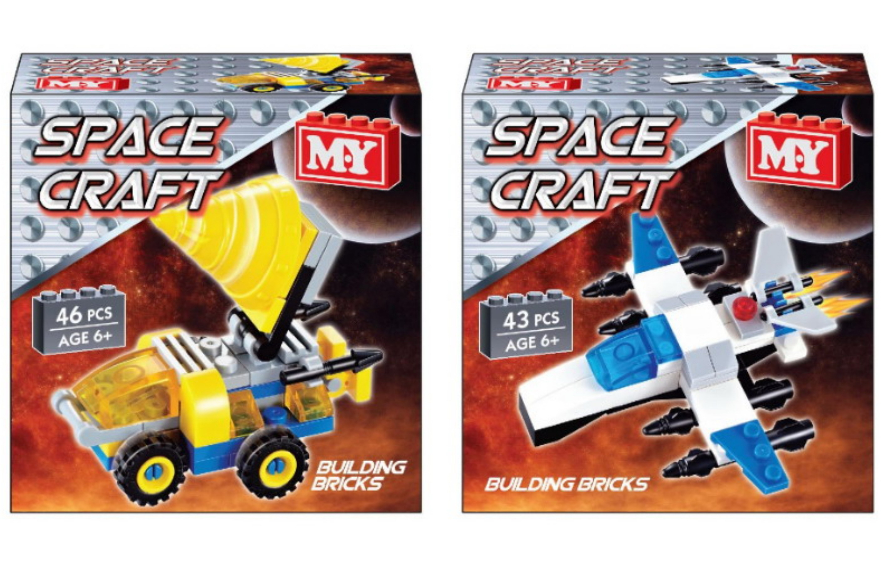Space Craft Brick Set In Display Box