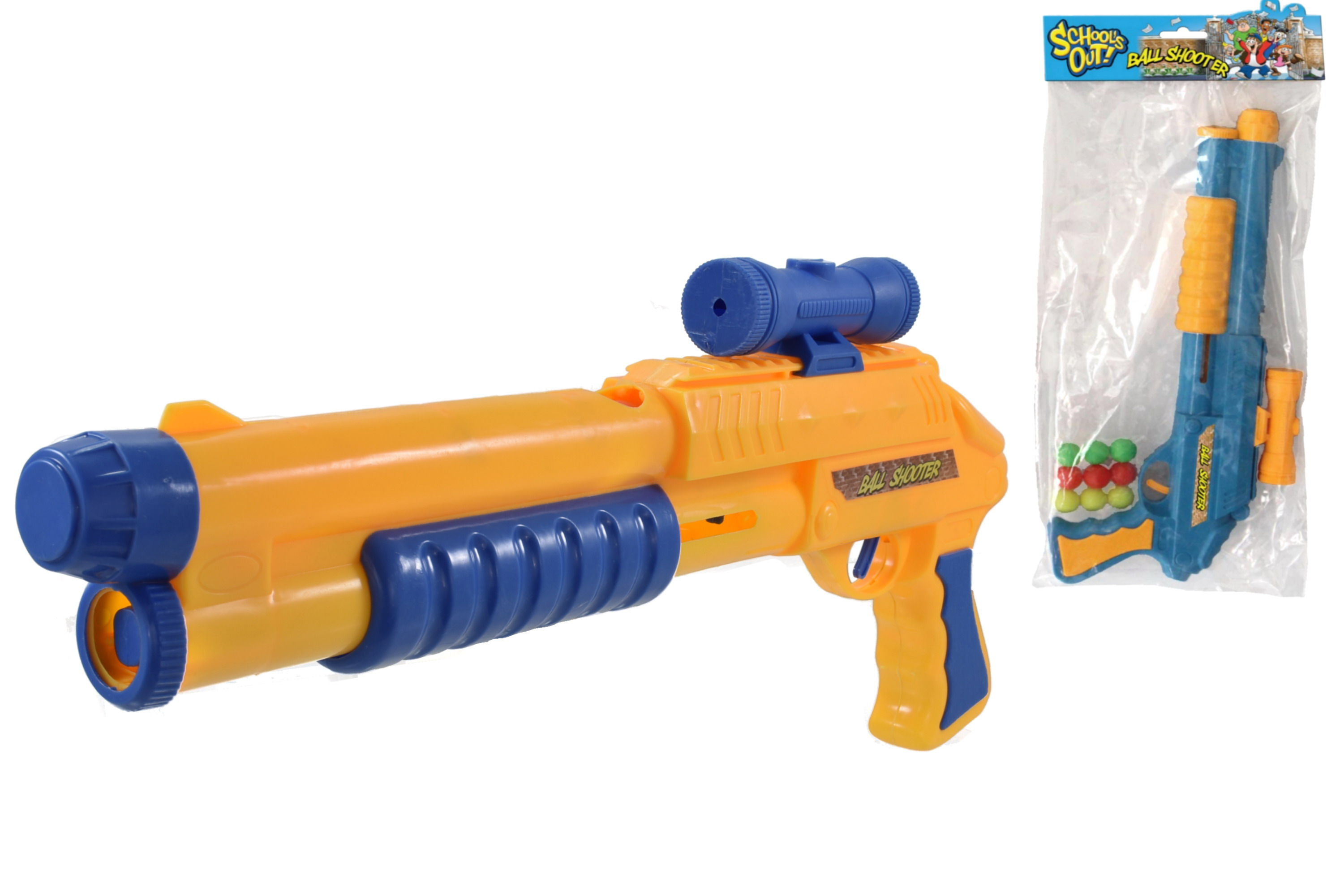 "Ball Shoot Rifle In Pvc Bag With Header ""Schools Out"""