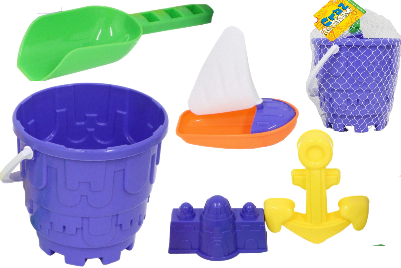 "5pc Round Castle Bucket Set In Net Bag ""Nalu"""