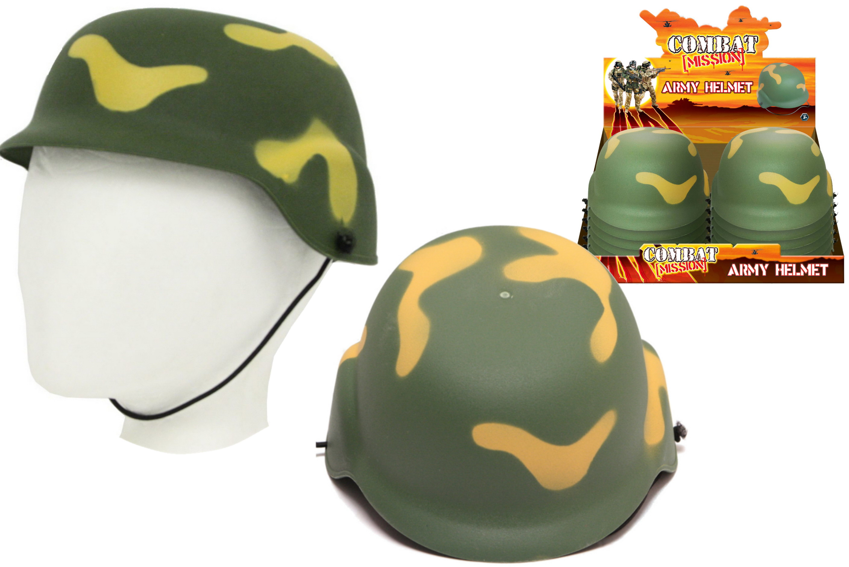 "Army Helmet In Display Box ""Combat Mission"""