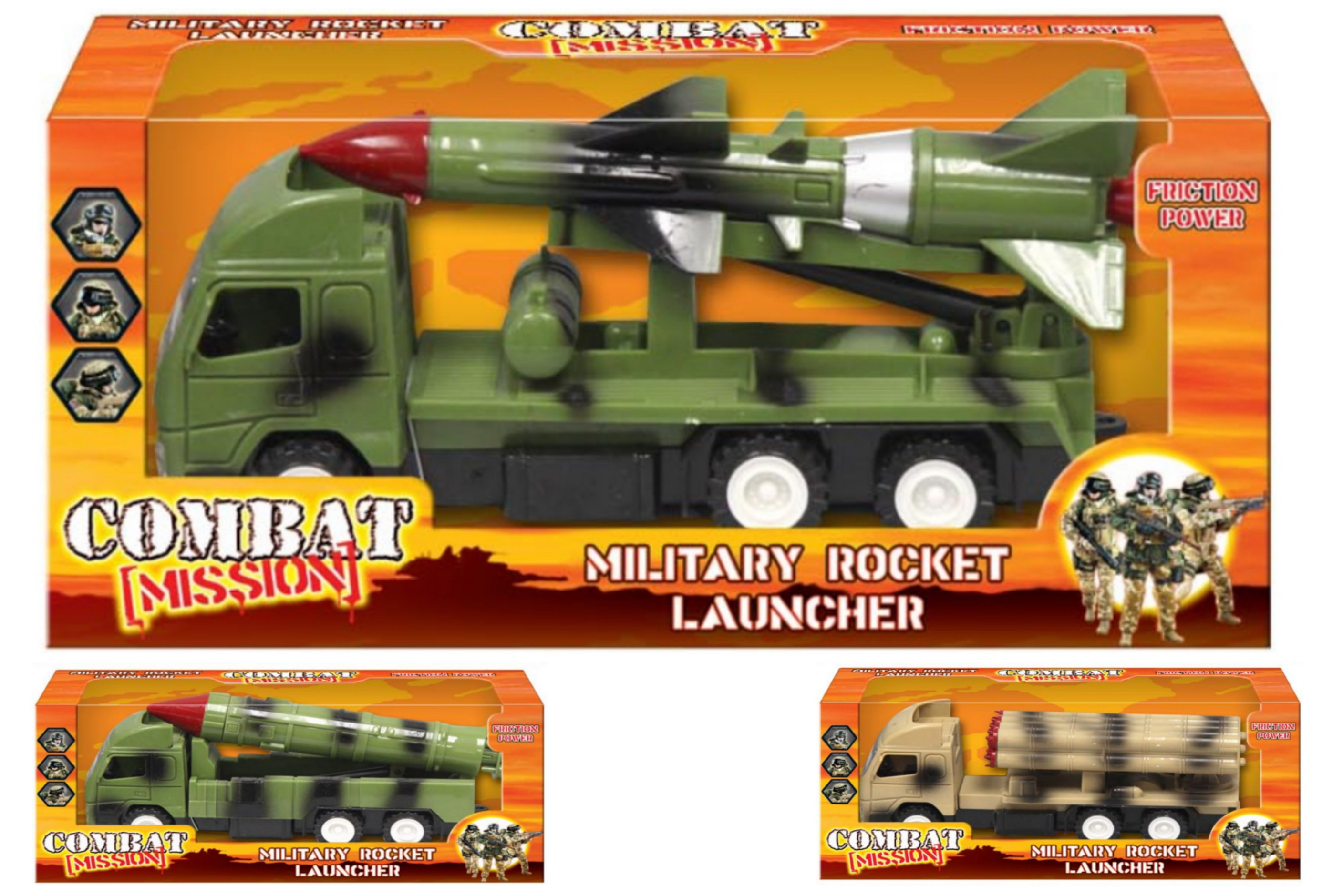 "Military Rocket Launcher 4 Assorted Winbox ""Combat Miss"