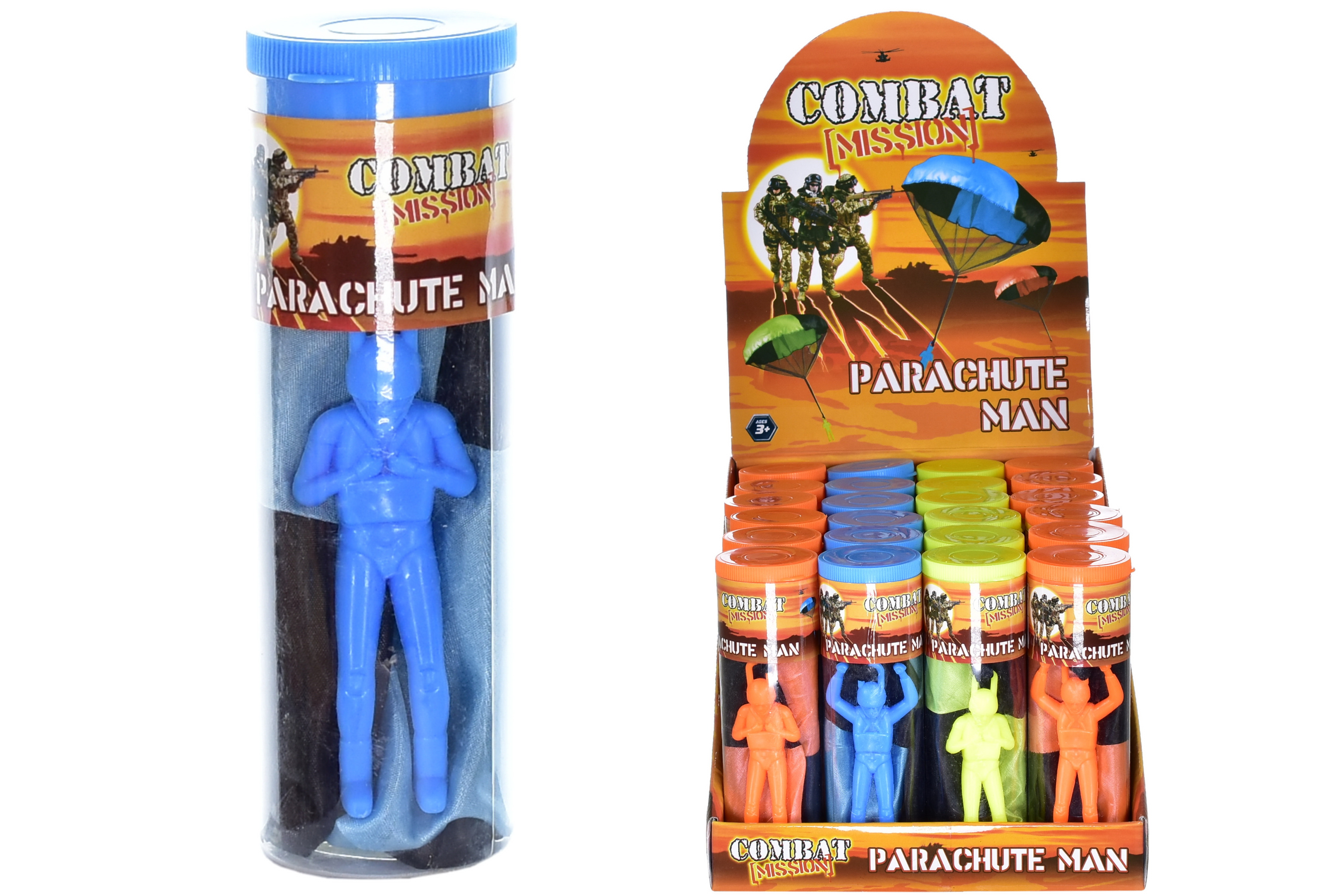 Parachute Man (Pvc Tube) In Display Box -Combat Mission