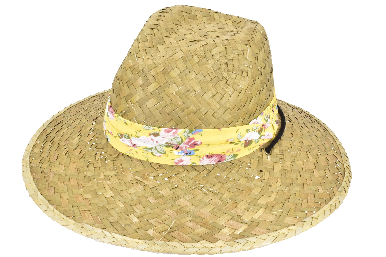 Ladies Sunflower Straw Hat Wide Brim With Band