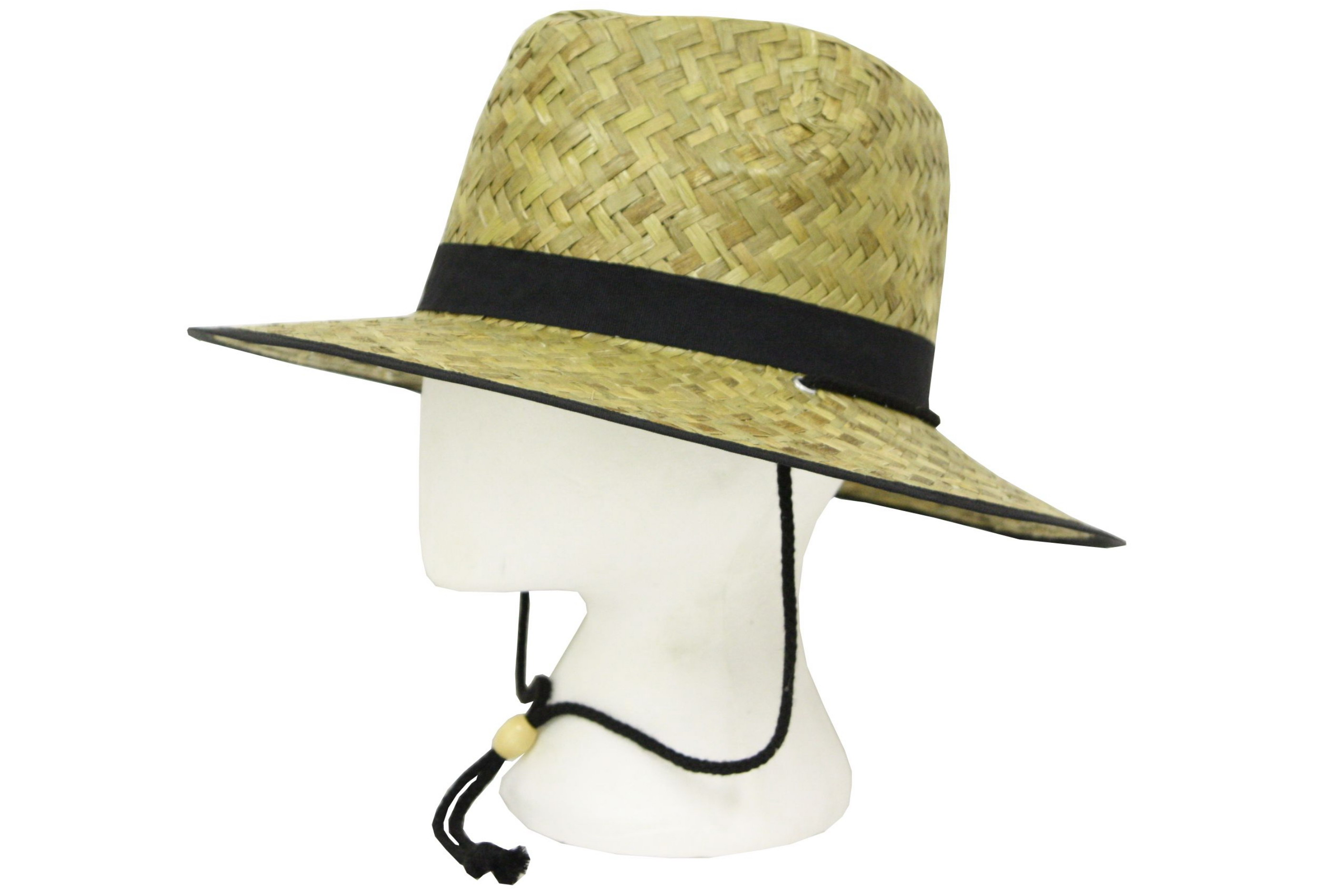 Straw Hat Fedora Style With Band