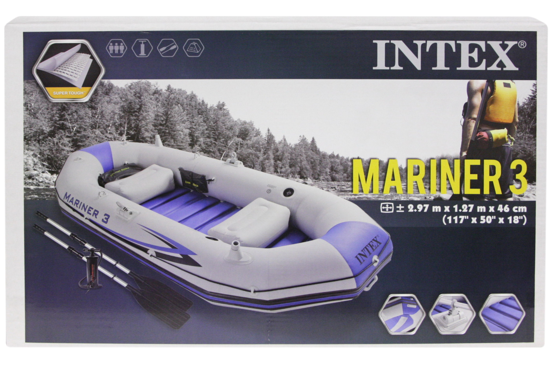"""117"""" x 50"""" x 18"""" Mariner 3 Boat Set - Pump & Alu Oars"""