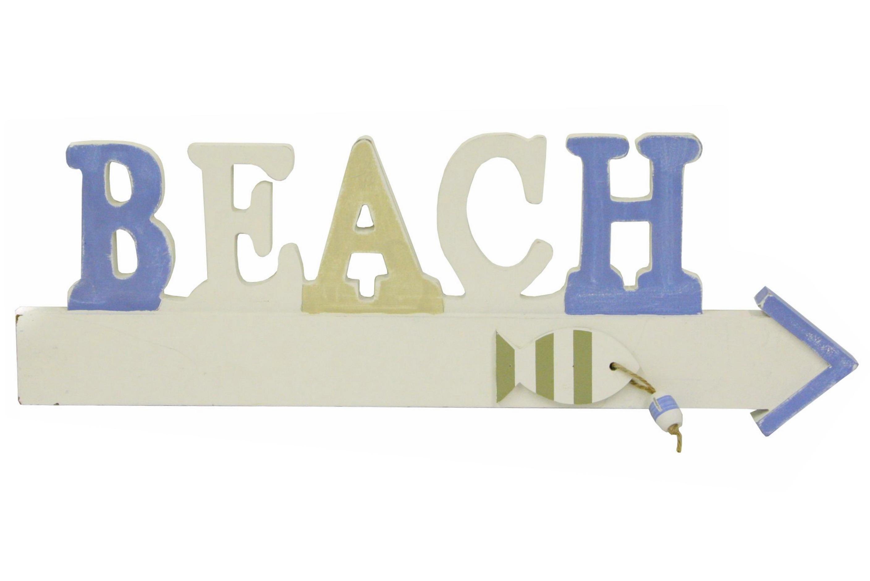 Wood Beach Arrow Sign 43cm