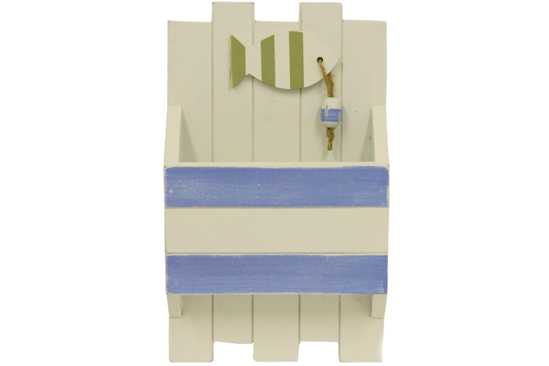 Wood Key & Letter Rack 24cm
