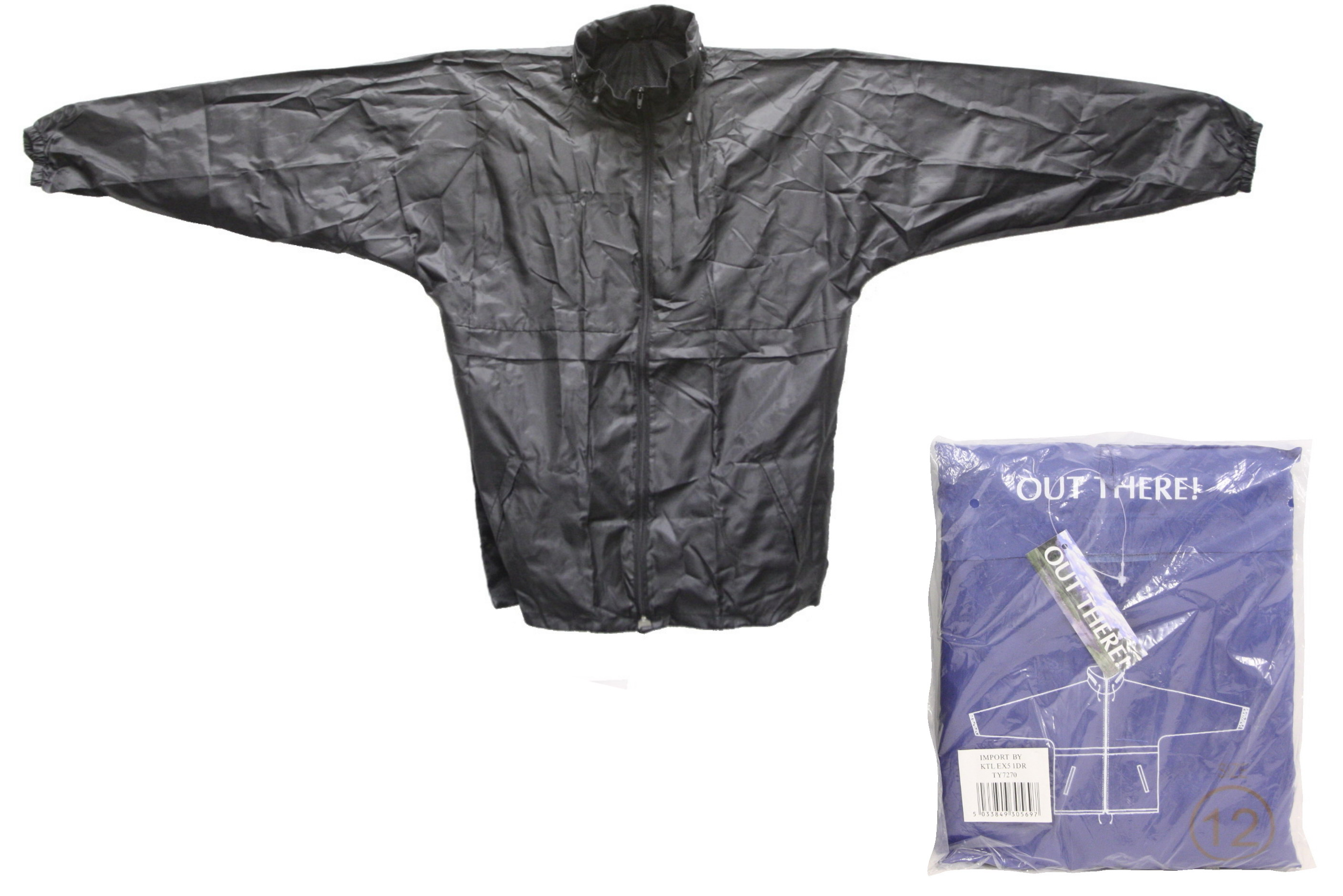 Childs Raincoat(Zipneck&Hood)+Seperate Pouch Asst Sizes