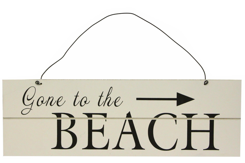Wooden Beach Sign 50cm