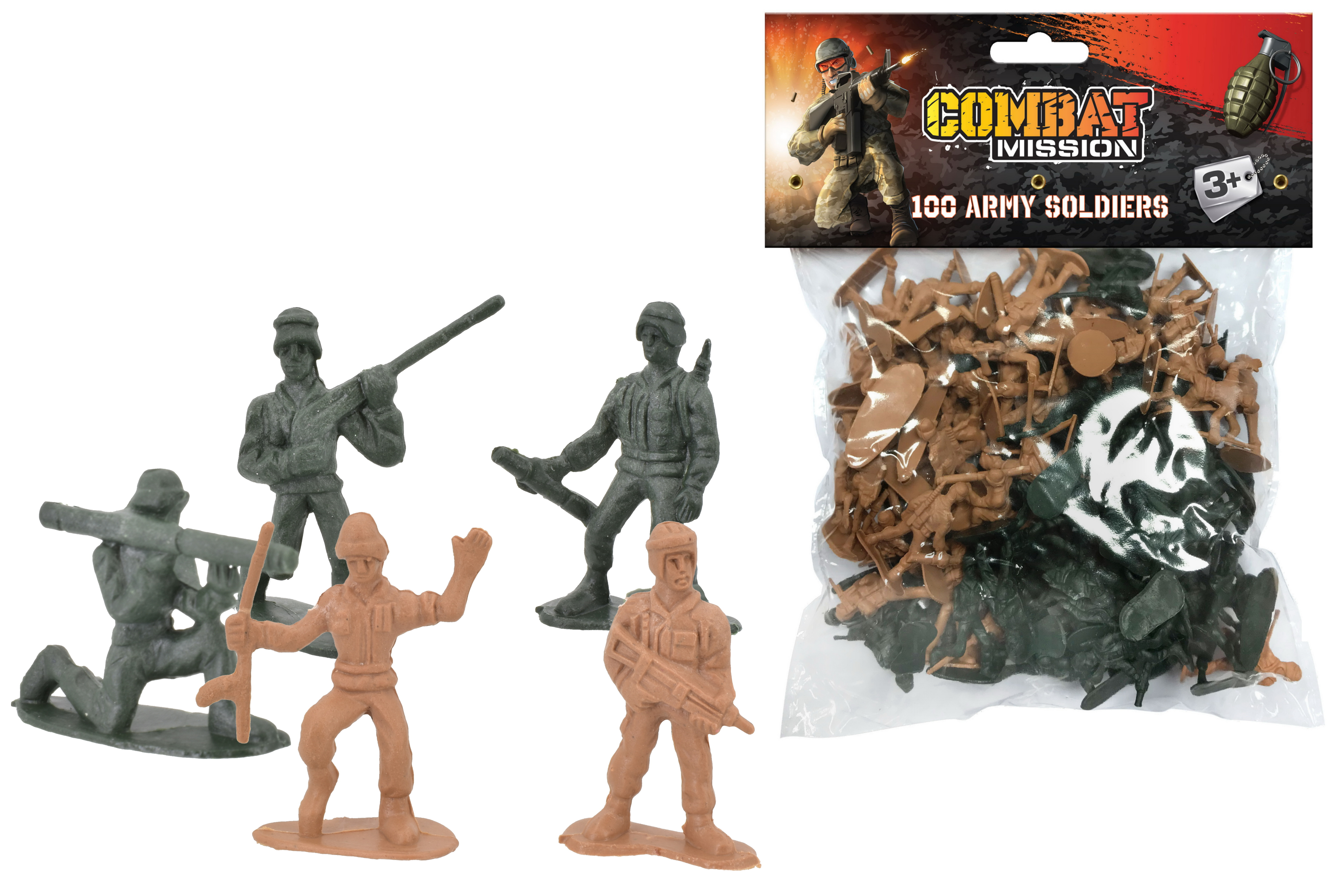 "100pc Soldier Set - ""Combat Mission"""
