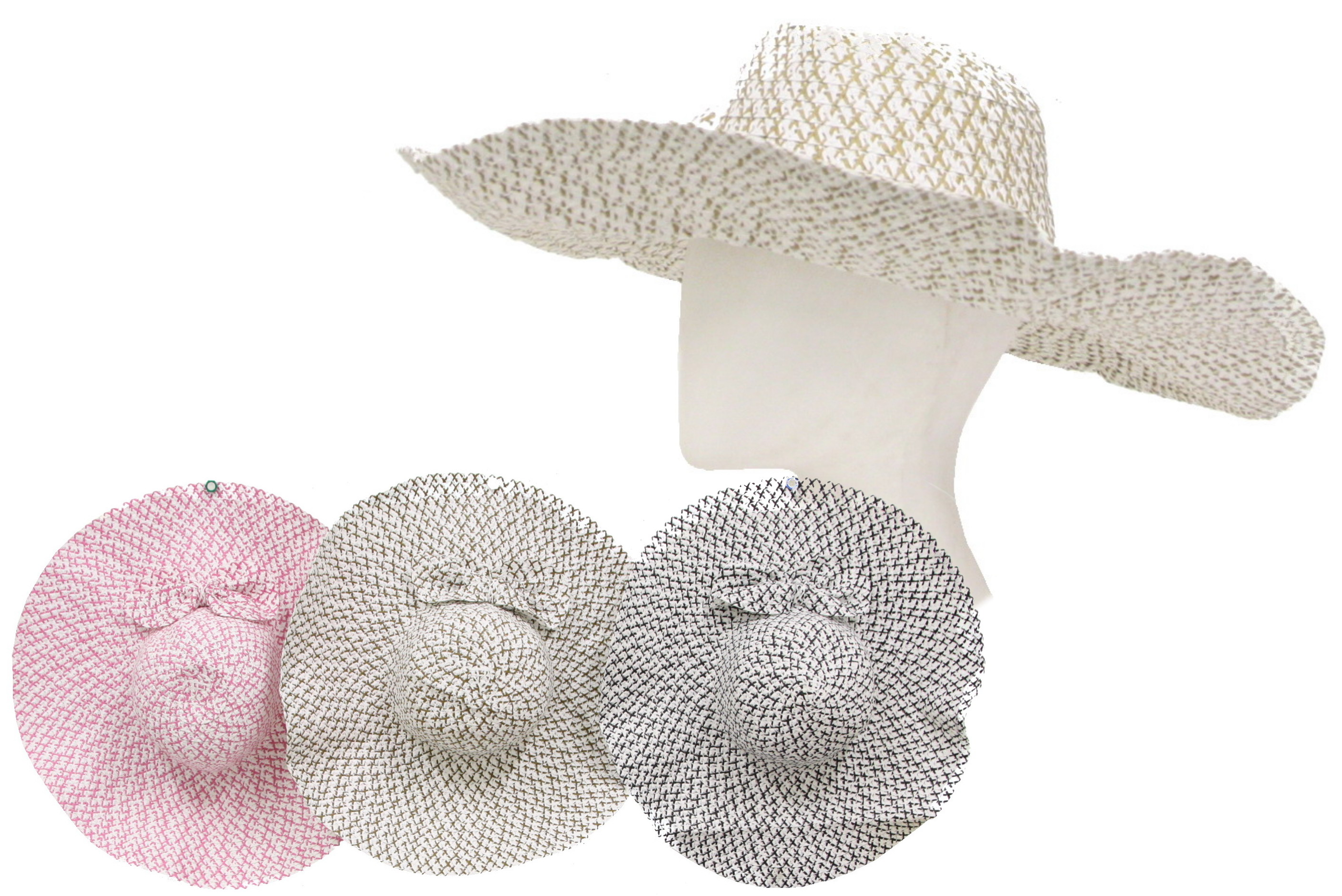 Ladies Floppy Hat (4 Assorted Colours) Polyester
