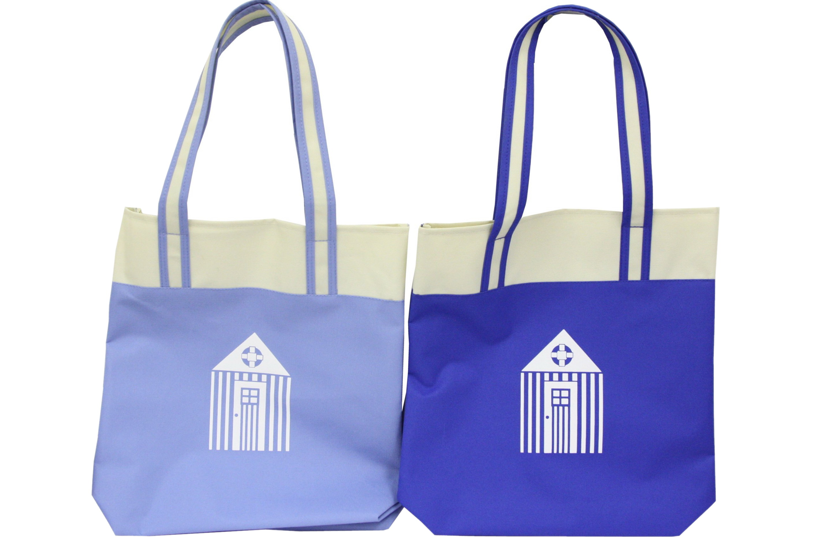 Beach Bag With Hut Design - 2 Assorted Colours