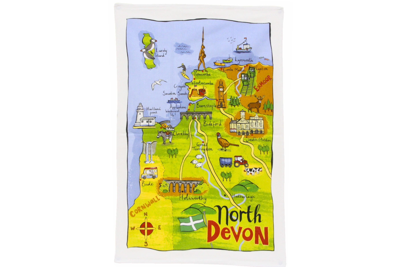North Devon Tea Towel 76x48cm