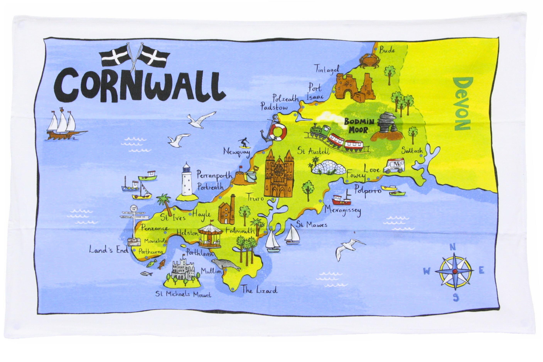 Cornwall Tea Towel 76x48cm