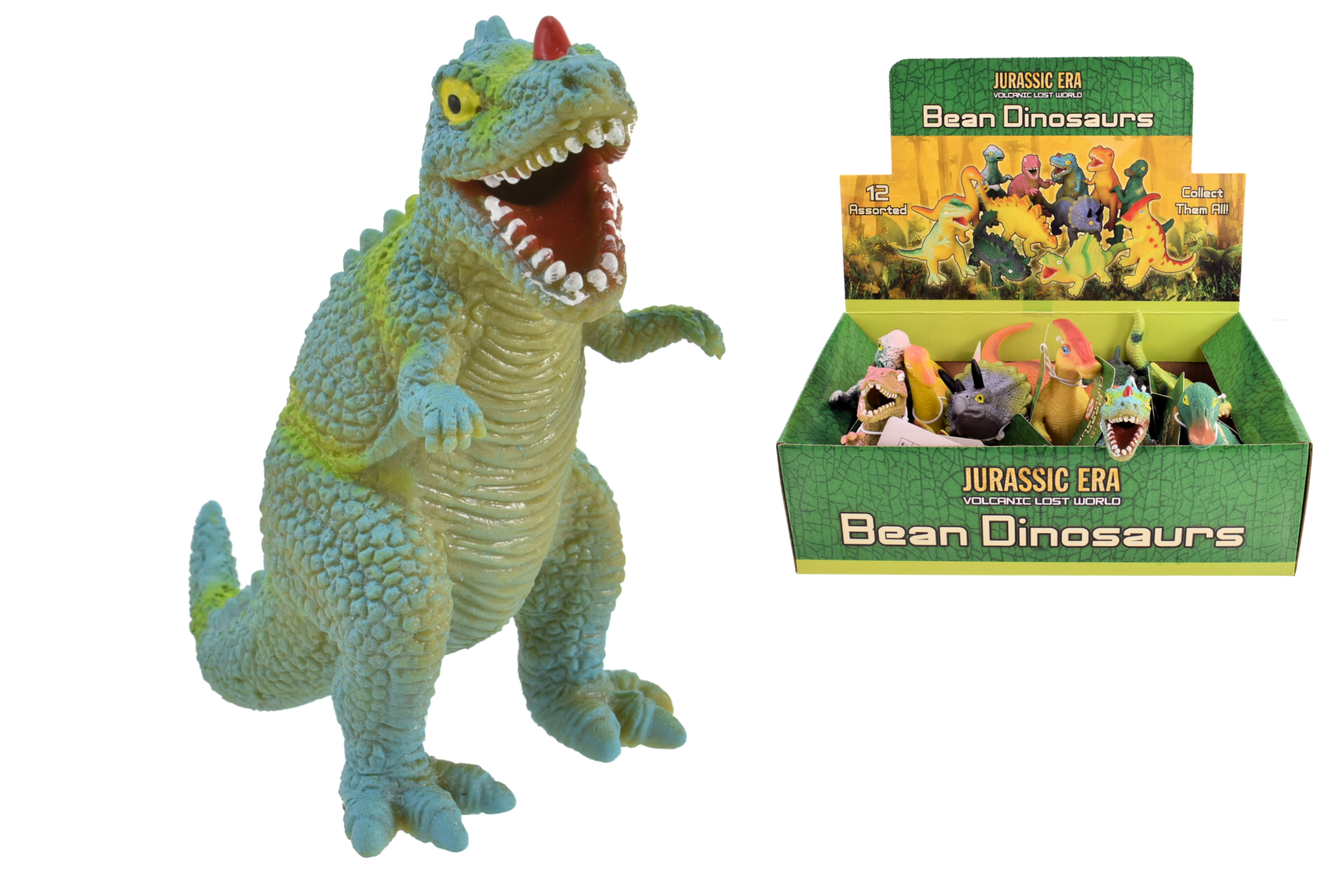 "Tpr Dinosaurs With Beans (12 Assorted) ""Jurassic Era"""
