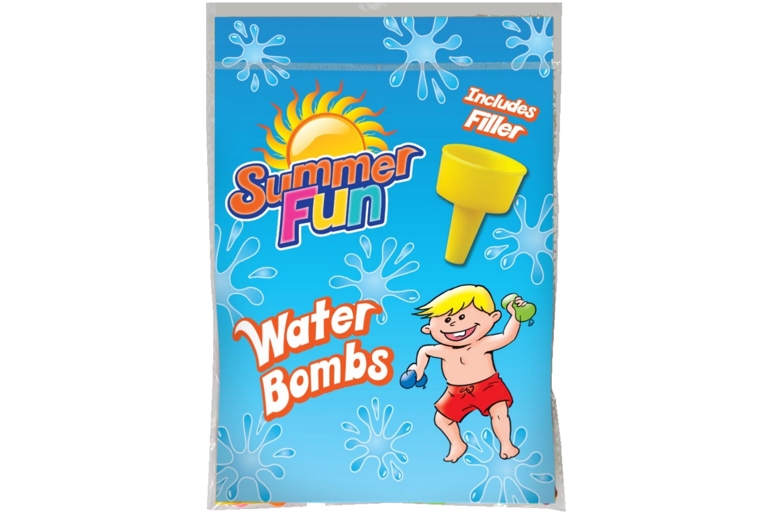 Water Bombs With Filler In Printed Bag (Approx 250pcs)