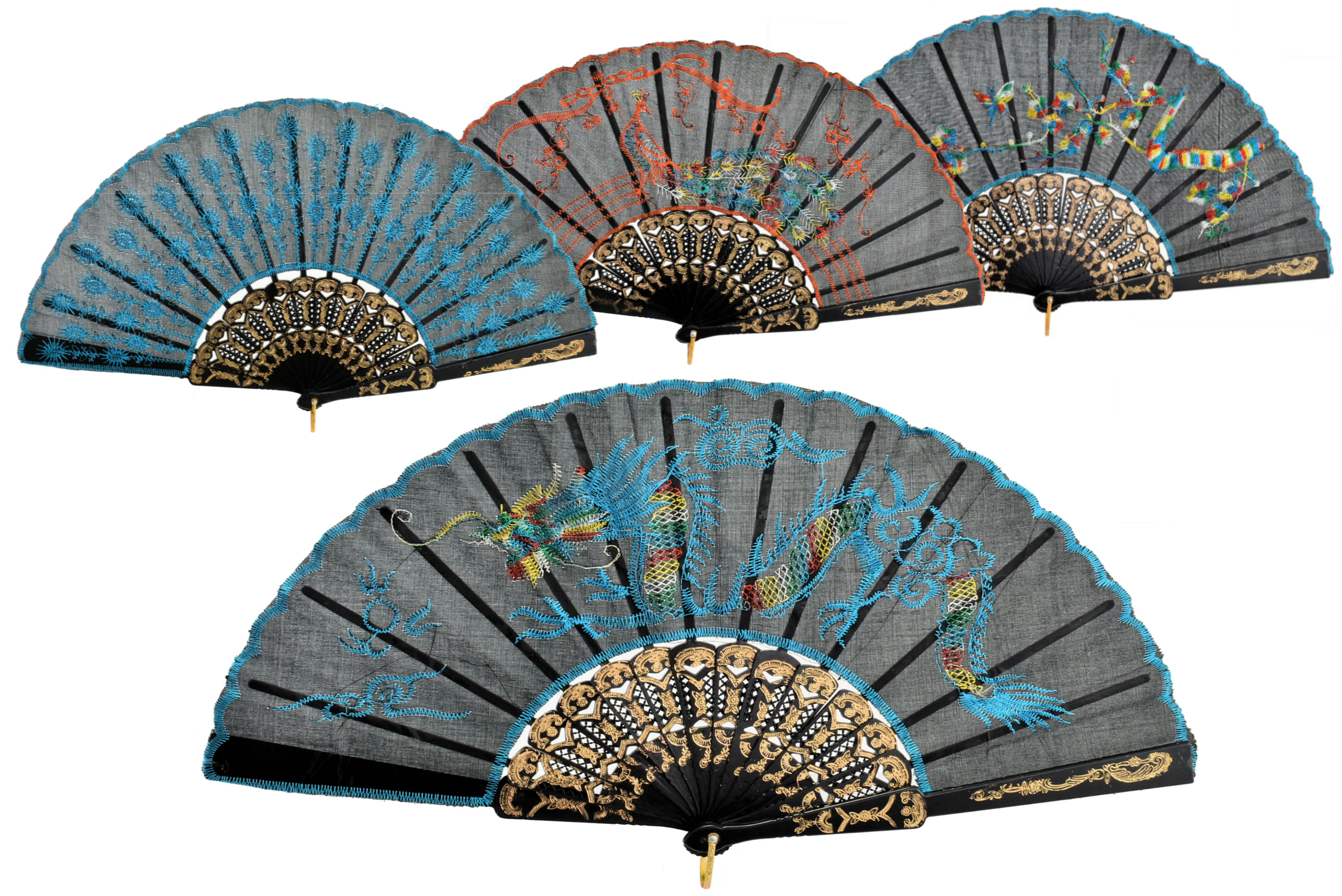 "9"" Chinese Fan (Colour Box)"
