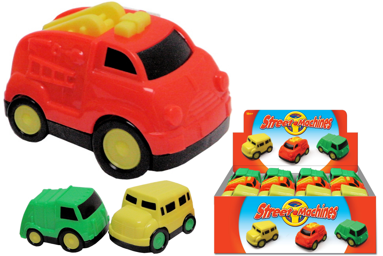 Plastic Freewheel Car (3 Assorted) In Display Box